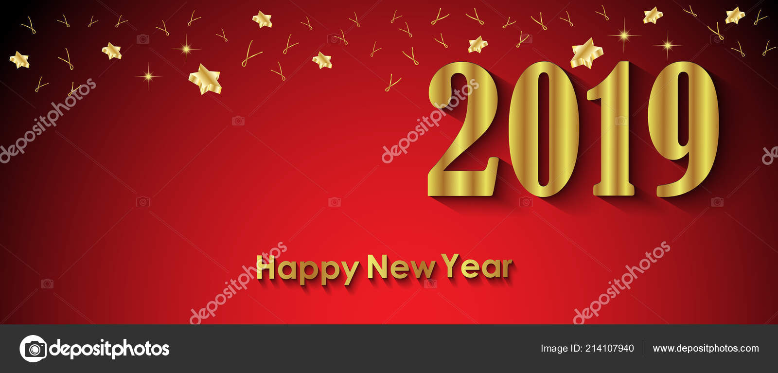 2019 Happy New Year Background Your Invitations Festive Posters