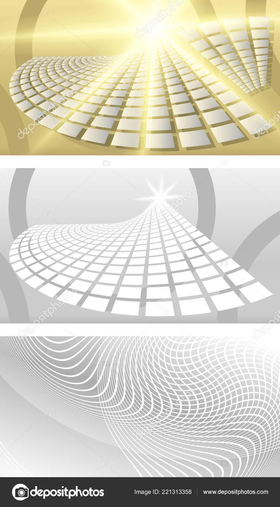 Set Carte De Visite Modele Vierge Fond Beige Avec Un Rectangles Vrac Renversement Elegant Ventilateur Graphique Des Rayons Lumiere Brillantes