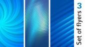 Nastavte pozadí abstraktní modré světelné linky. Vektorové ilustrace Eps 10. Lze použít pro vizitka, leták rozložení, web design, šablona nápisu, titulní stránku časopisu, reklamní prvky návrhu brožury