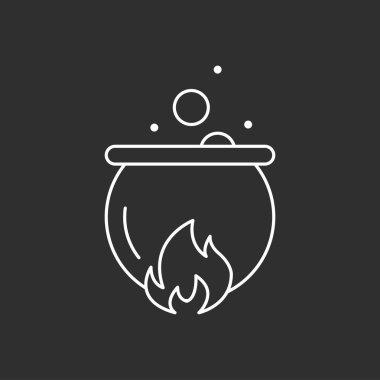 Magic pot. Magic vector icon.