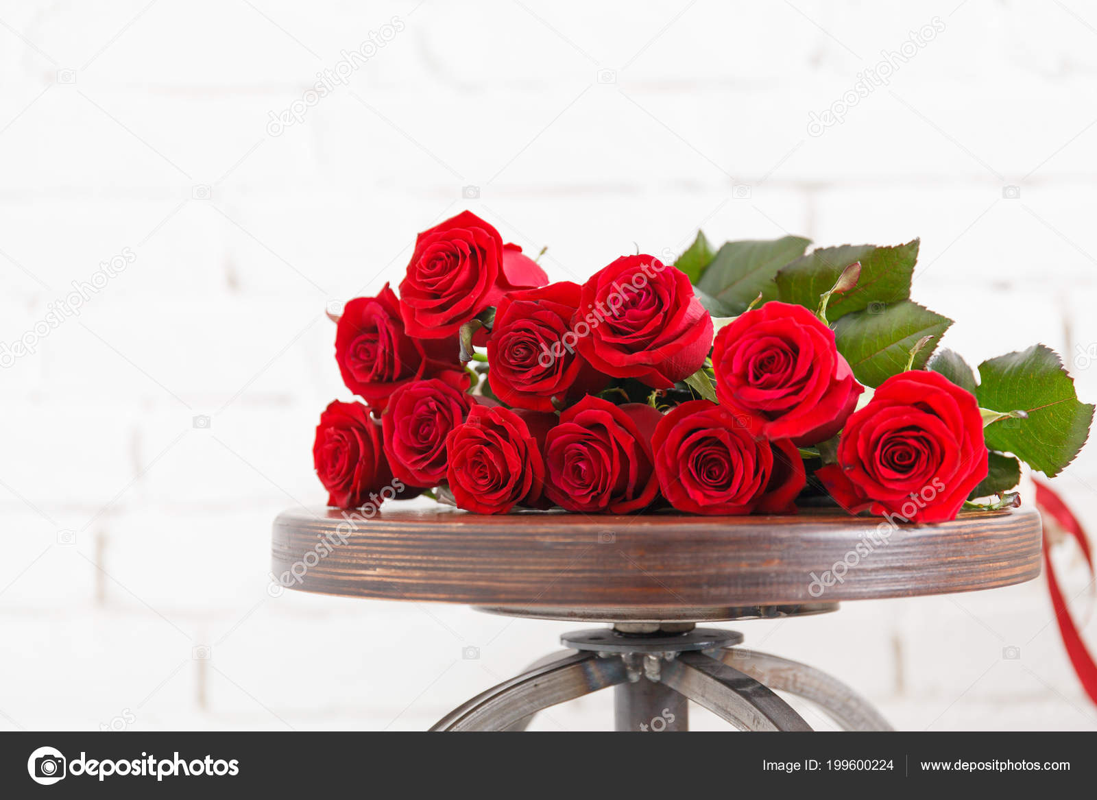 Big Bouquet Red Roses Beautiful Flower Floral Background Stock