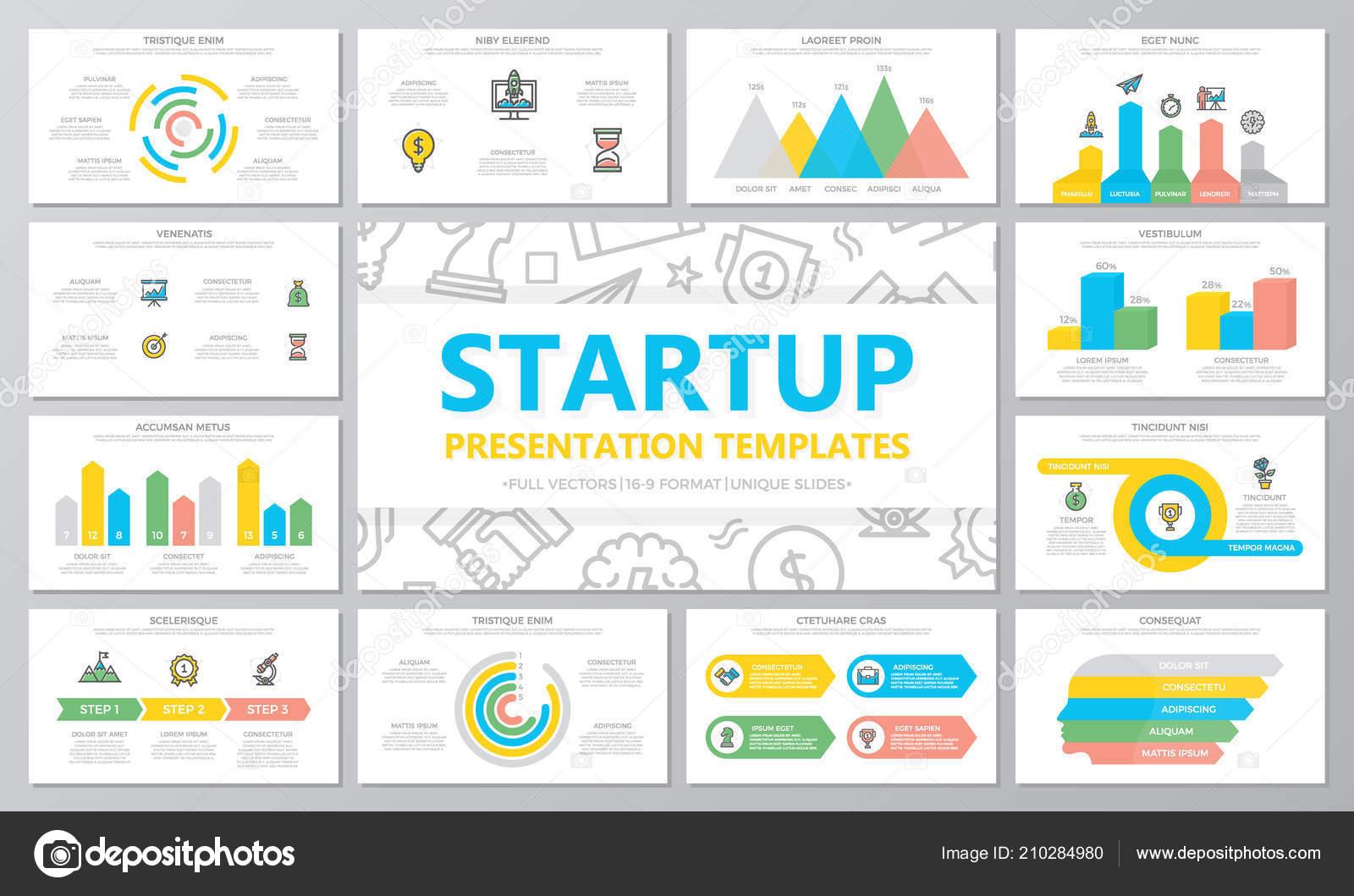 Arranque y negocio multiuso plantillas e infografía elementos de ...