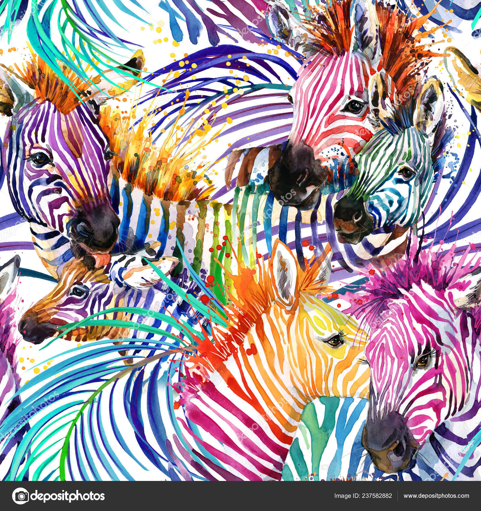 Wallpapers Rainbow Zebra Backgrounds Rainbow Zebra