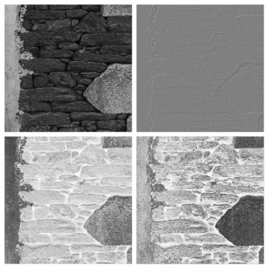Stone wall texture set of empty rouge places to your concept or product stock vector