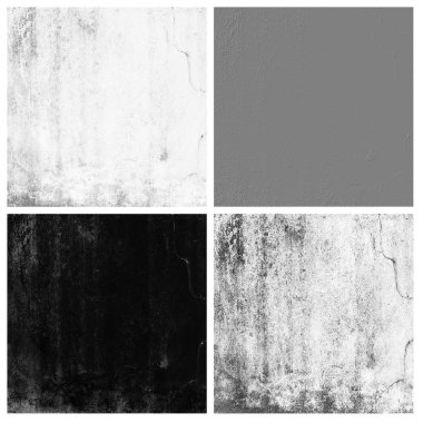 grunge wall texture set of empty rouge places to your concept or product