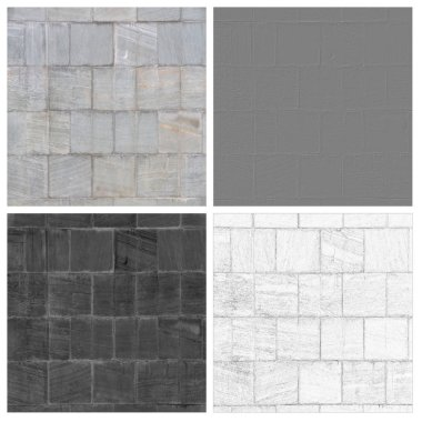 tiled stones set of empty rouge places to your concept or product