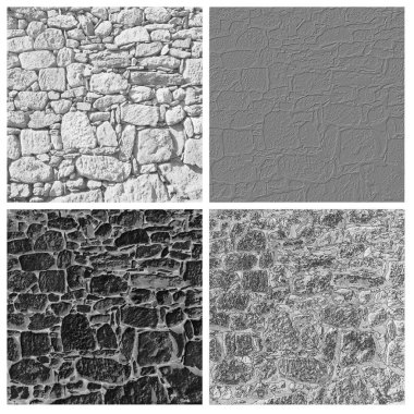 stone wall texture set of empty rouge places to your concept or product