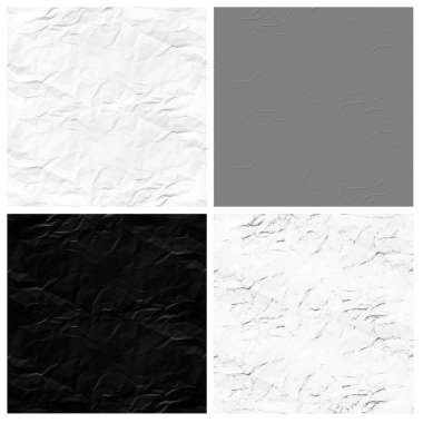 wrinkled paper set of empty rouge places to your concept or product