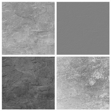 gray limestone set of empty rouge places to your concept or product