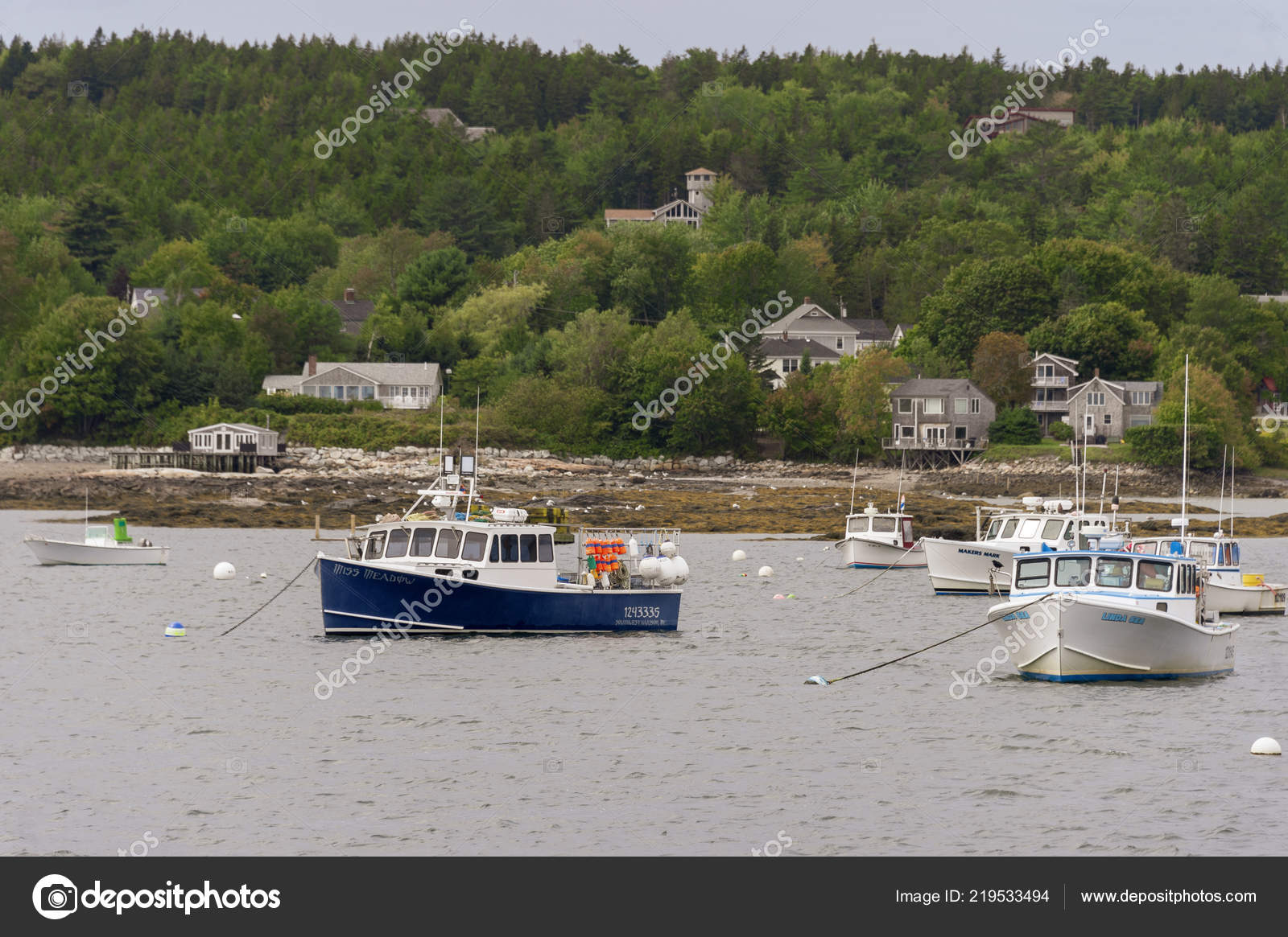 Southwest Harbor Maine Usa September 2018 Lobsterboats