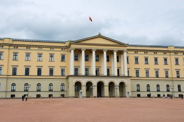 Oslo, Norway - June 08, 2010: Exterior of the Royal palace building in Oslo, Norway.