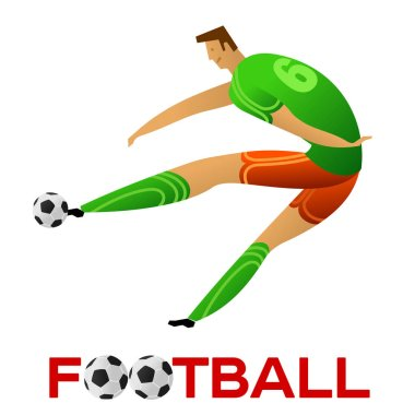 Soccer player against the background