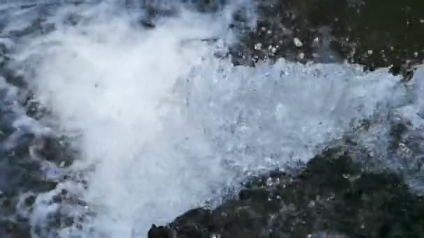 Slow motion shot of the waterflow.