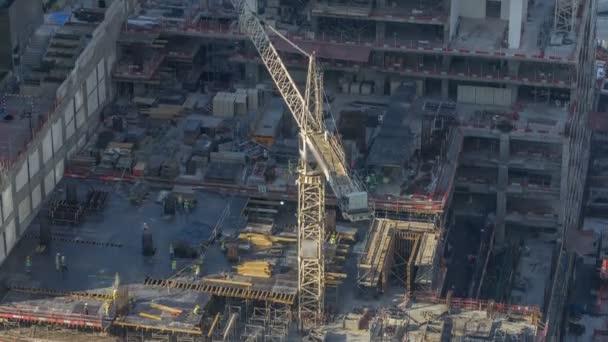 Construction cranes at Dubai Marina timelapse