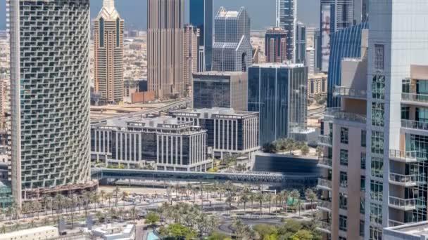 Dubaj centrum na slunečný den timelapse