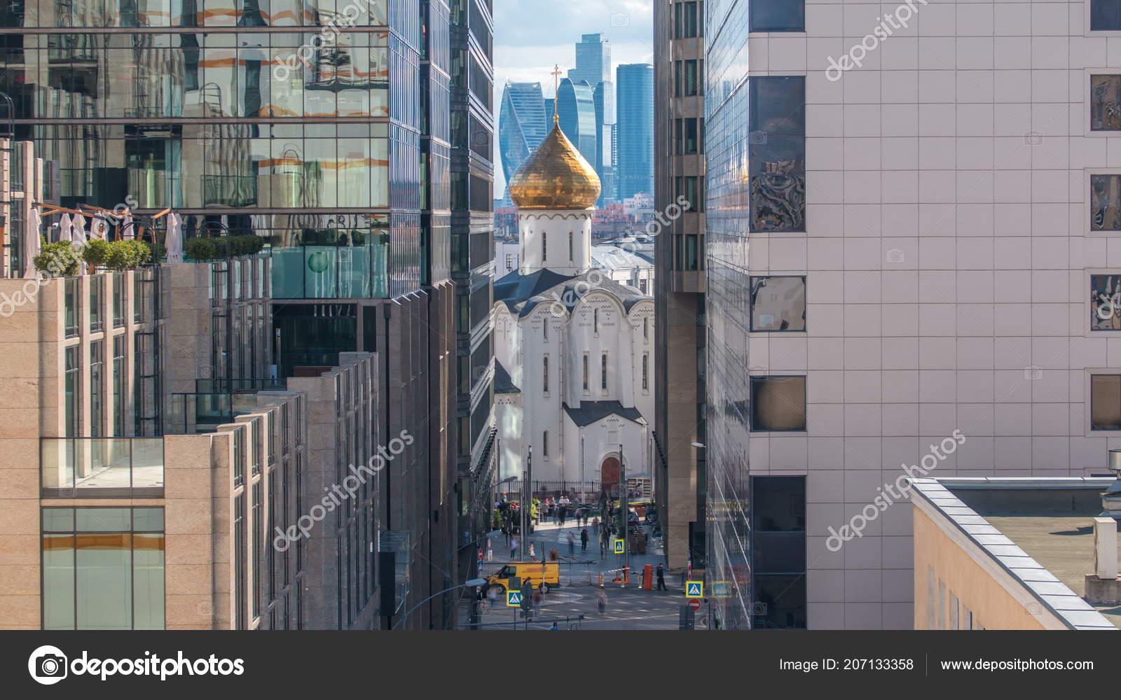 Temple Nicholas Timelapse Tverskaya Zastava Office Buildings