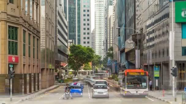Singapore traffic around the city centre timelapse.