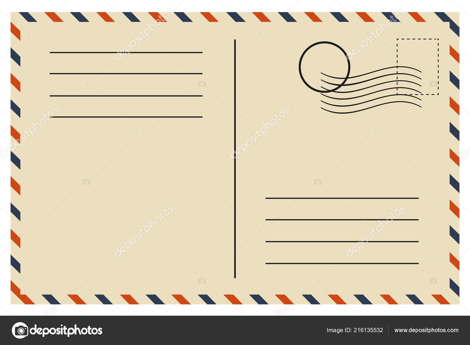 Vintage Postcard Template Vector Design Stock Vector C 4zeva
