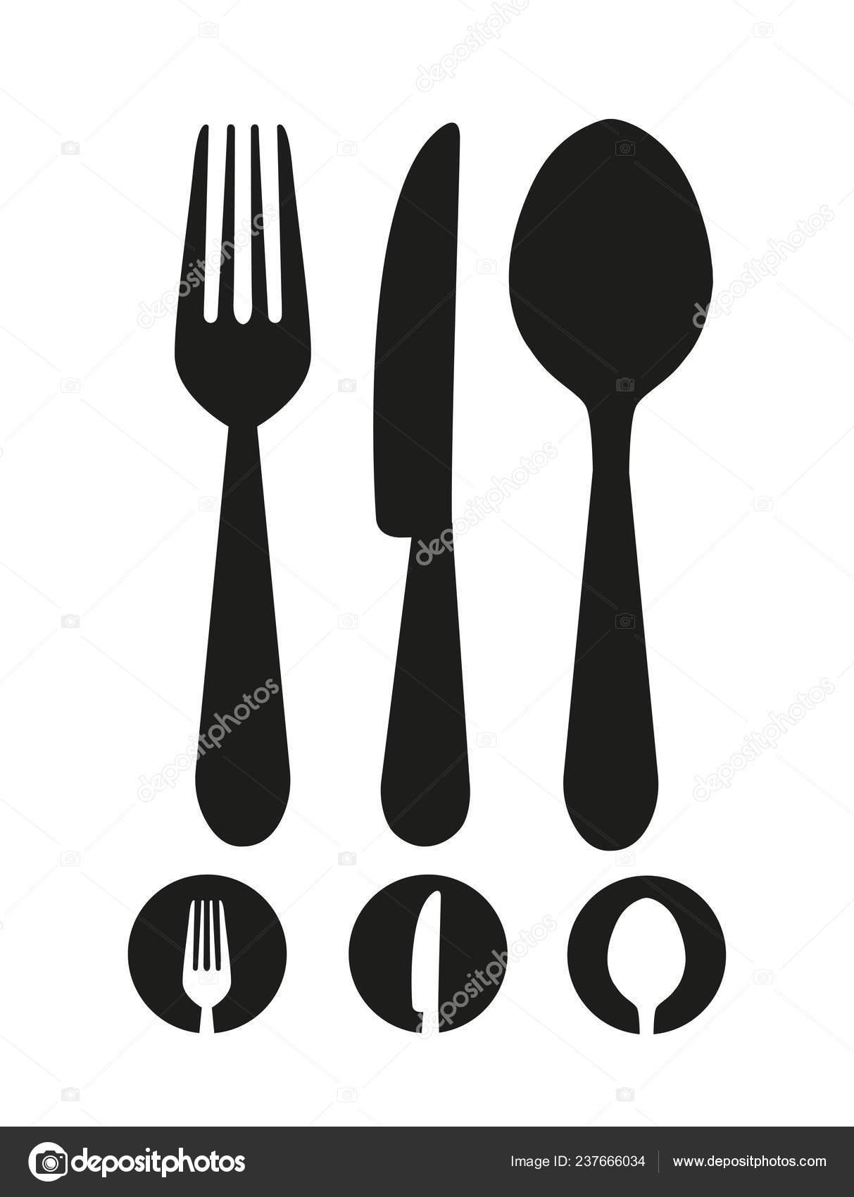 knife fork spoon icon vector stock vector c 4zeva 237666034 https depositphotos com 237666034 stock illustration knife fork spoon icon vector html