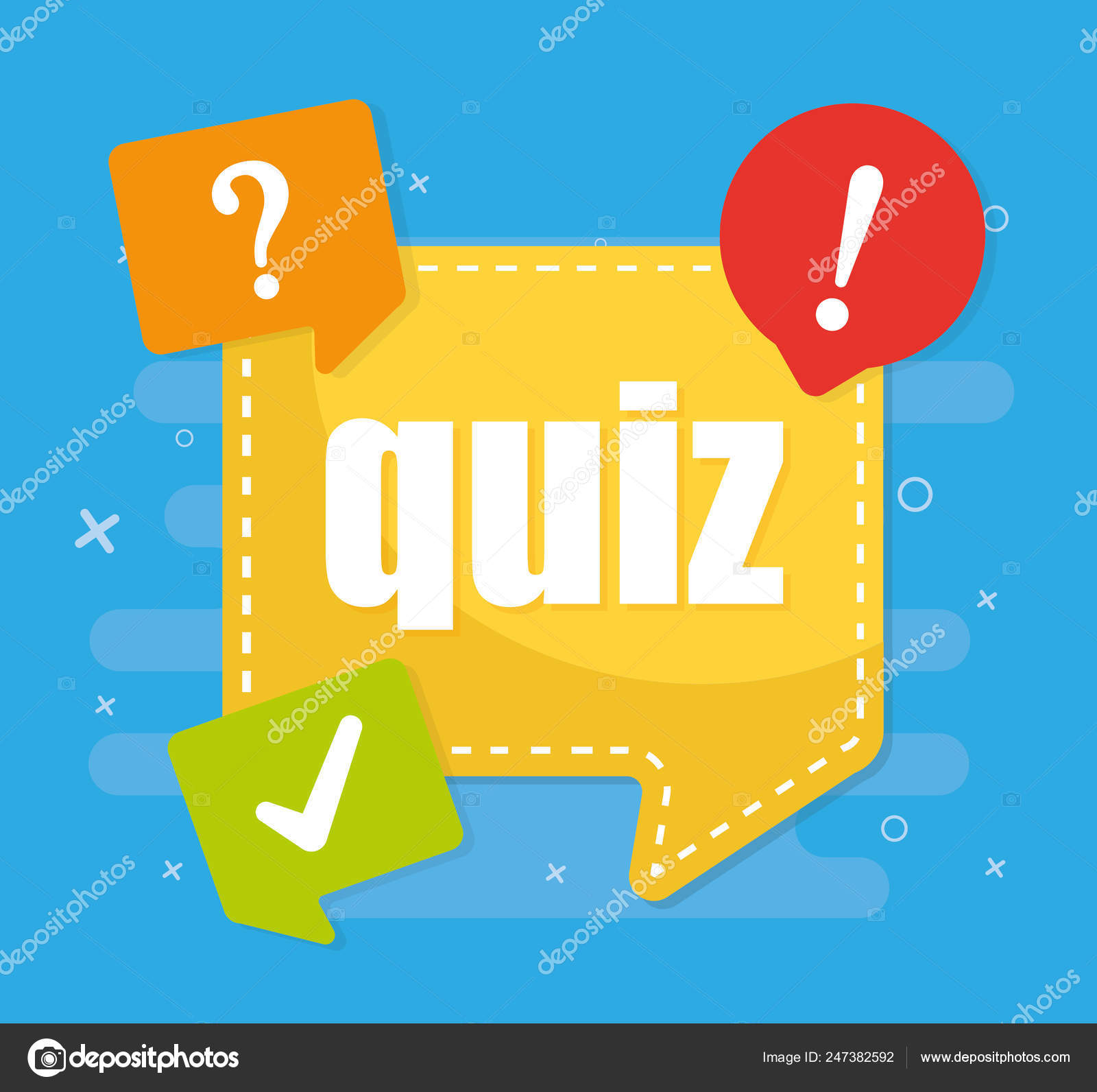 Quiz Word Vector Illustration — Stock Vector © 4zeva #247382592