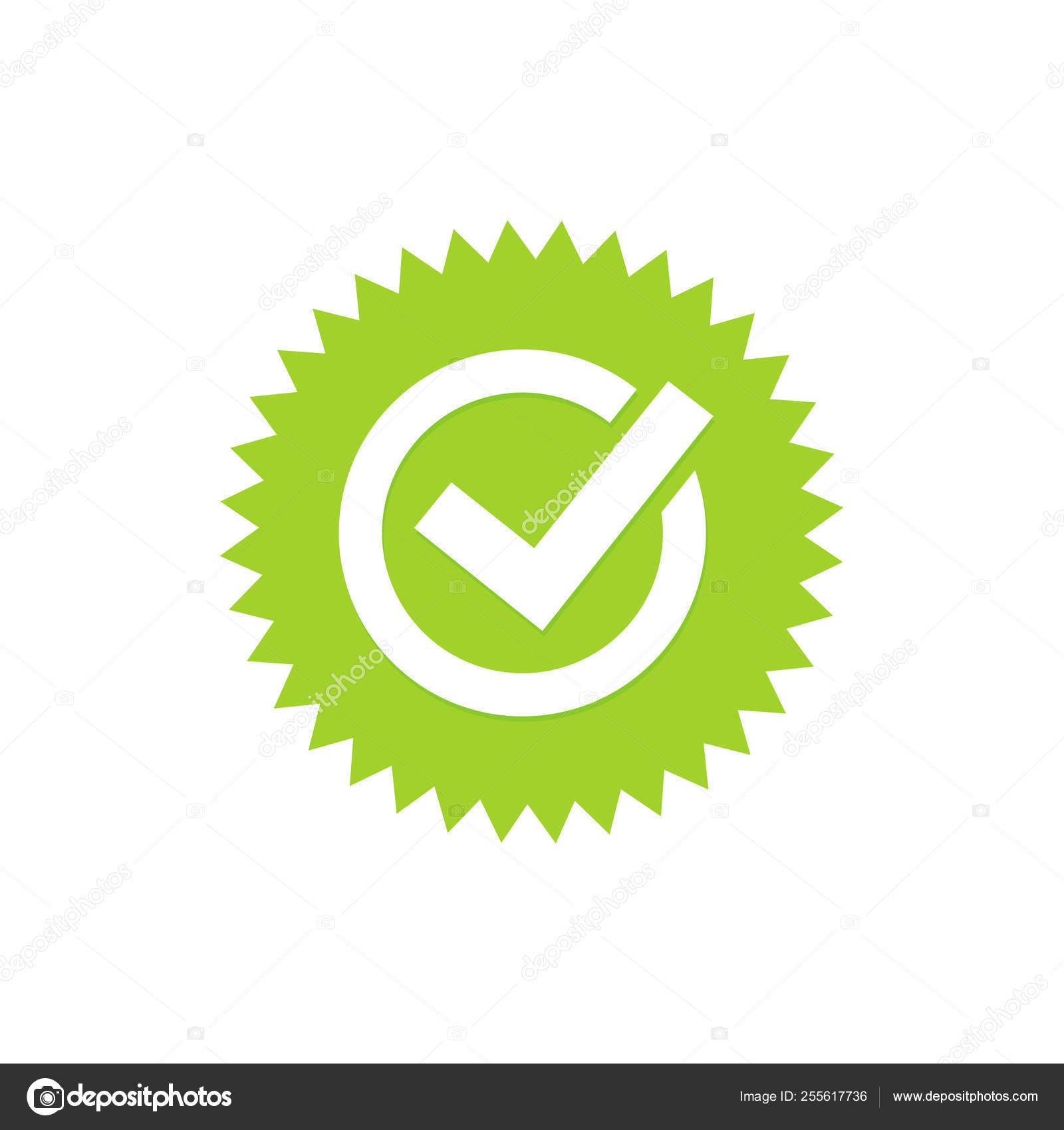 Tick Verde O Marca De Verificación Verde Ilustración De Vector De