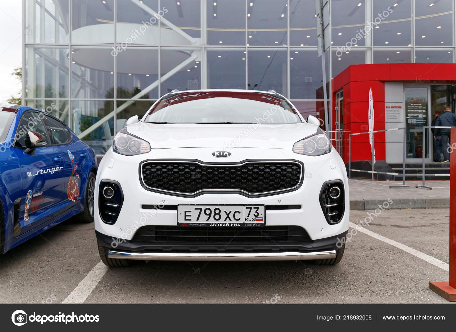 Ulyanovsk Russia October 2018 New Kia Sportage Exhibition Car Stands Stock Editorial Photo C Mark Ka 218932008