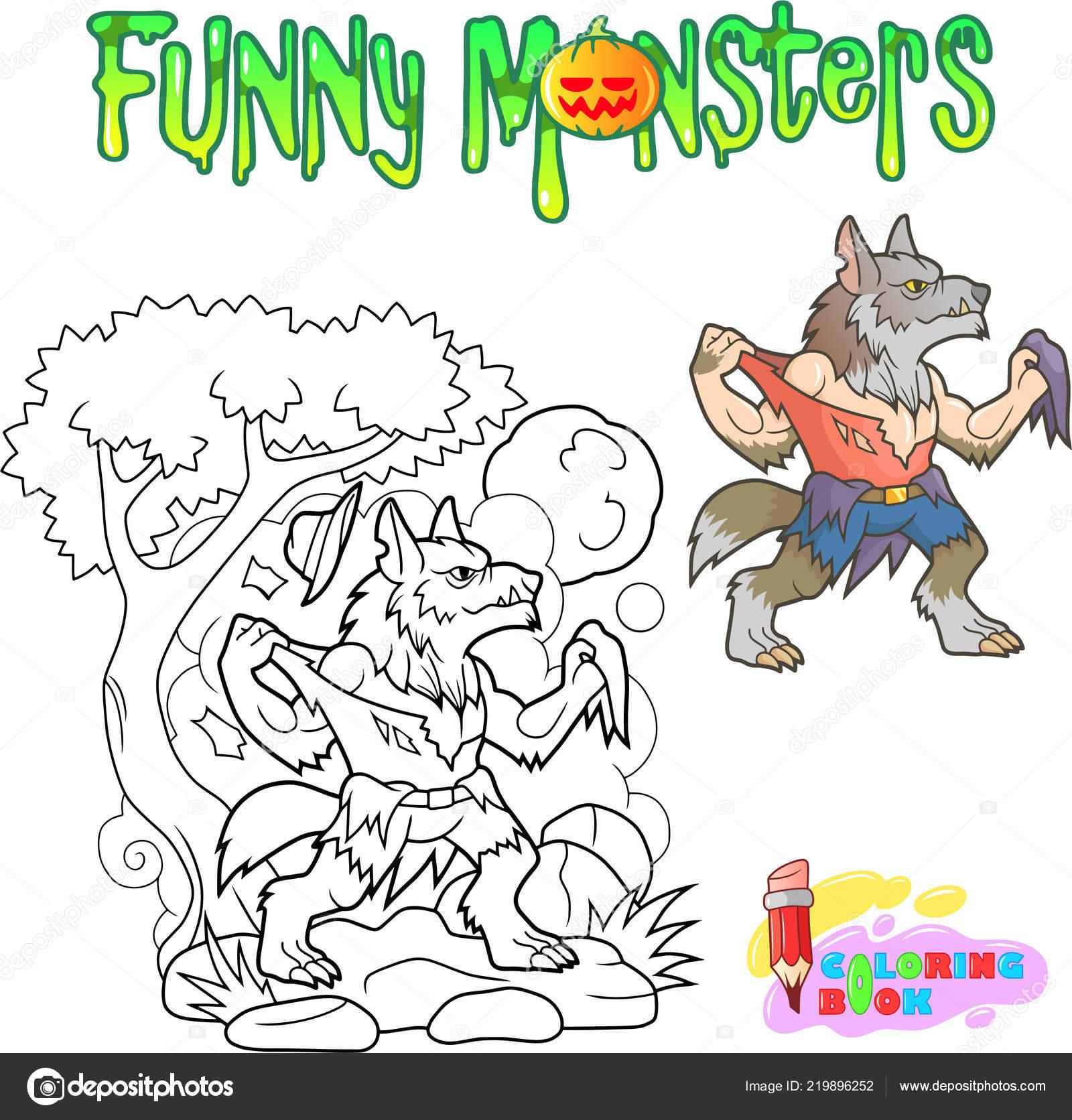 Komik Kurtadam Kitap Illustration Boyama Cadılar Bayramı