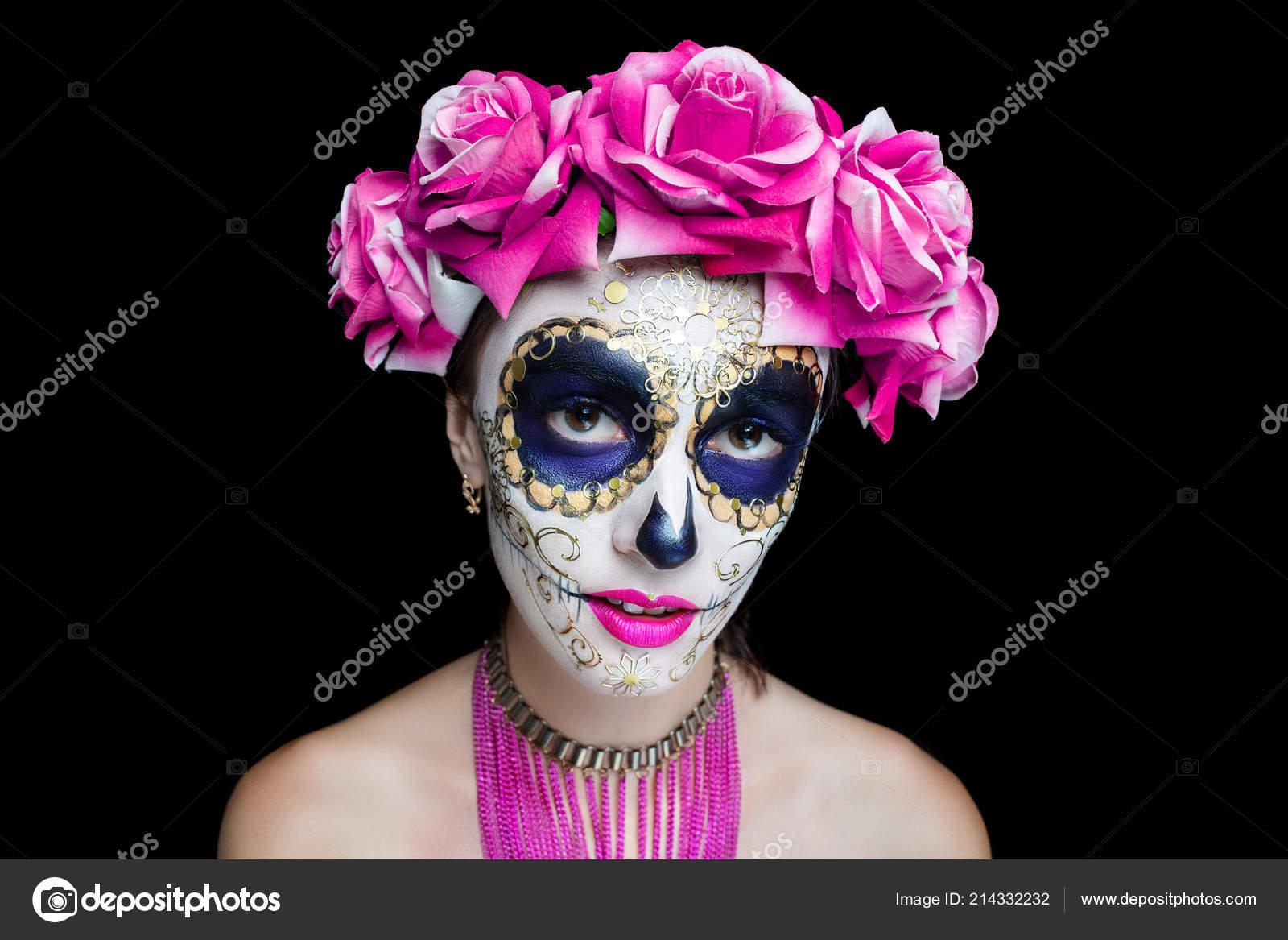 Imagenes De Maquillaje Para Descargar: Mujer Arte Maquillaje Maquillaje Calavera Miedo Para