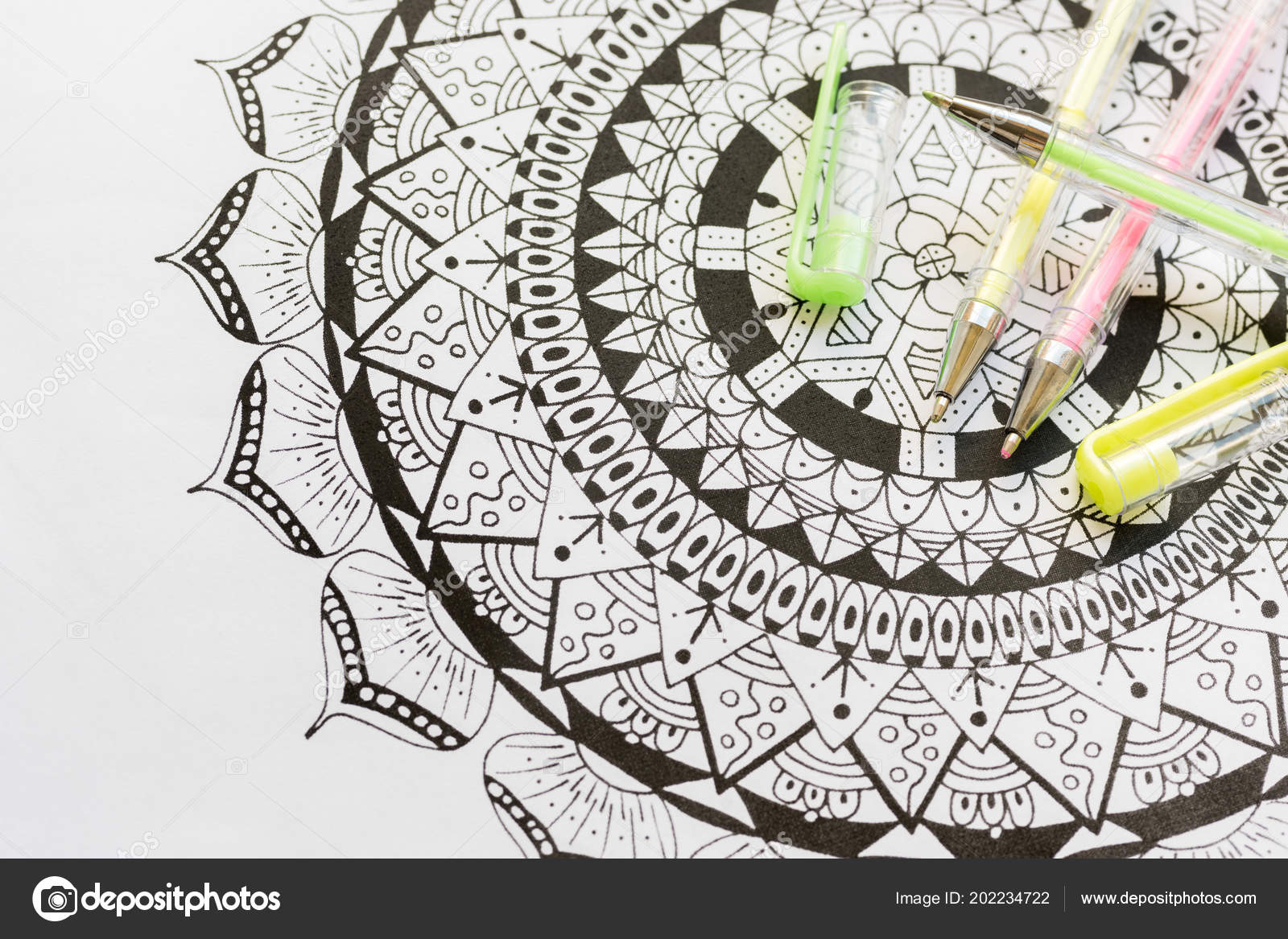 Adult Coloring Book New Stress Relieving Trend Art Therapy ...