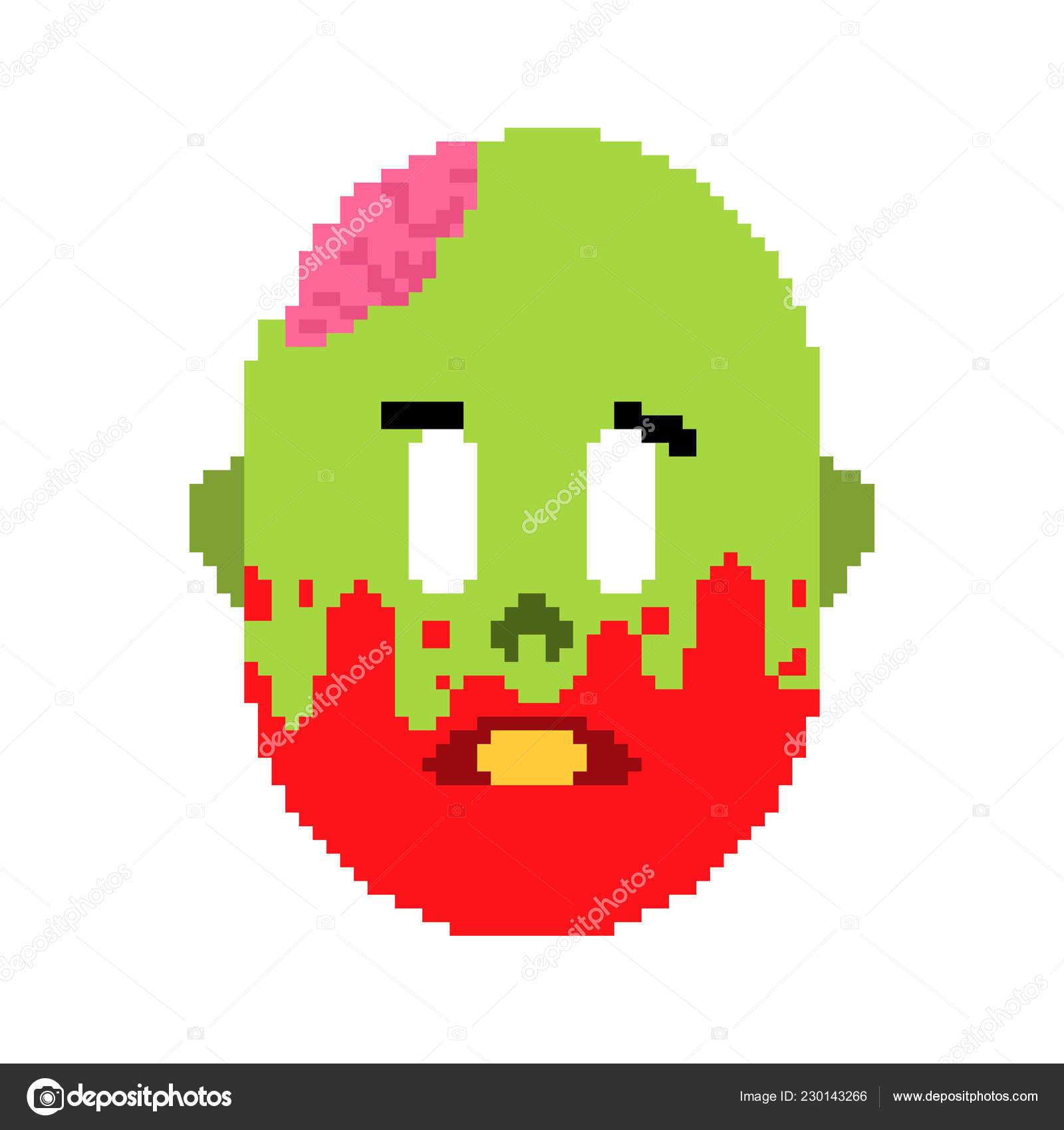 Snes Tête Zombie Visage Mort Vert Cerveau Intérieur Crâne