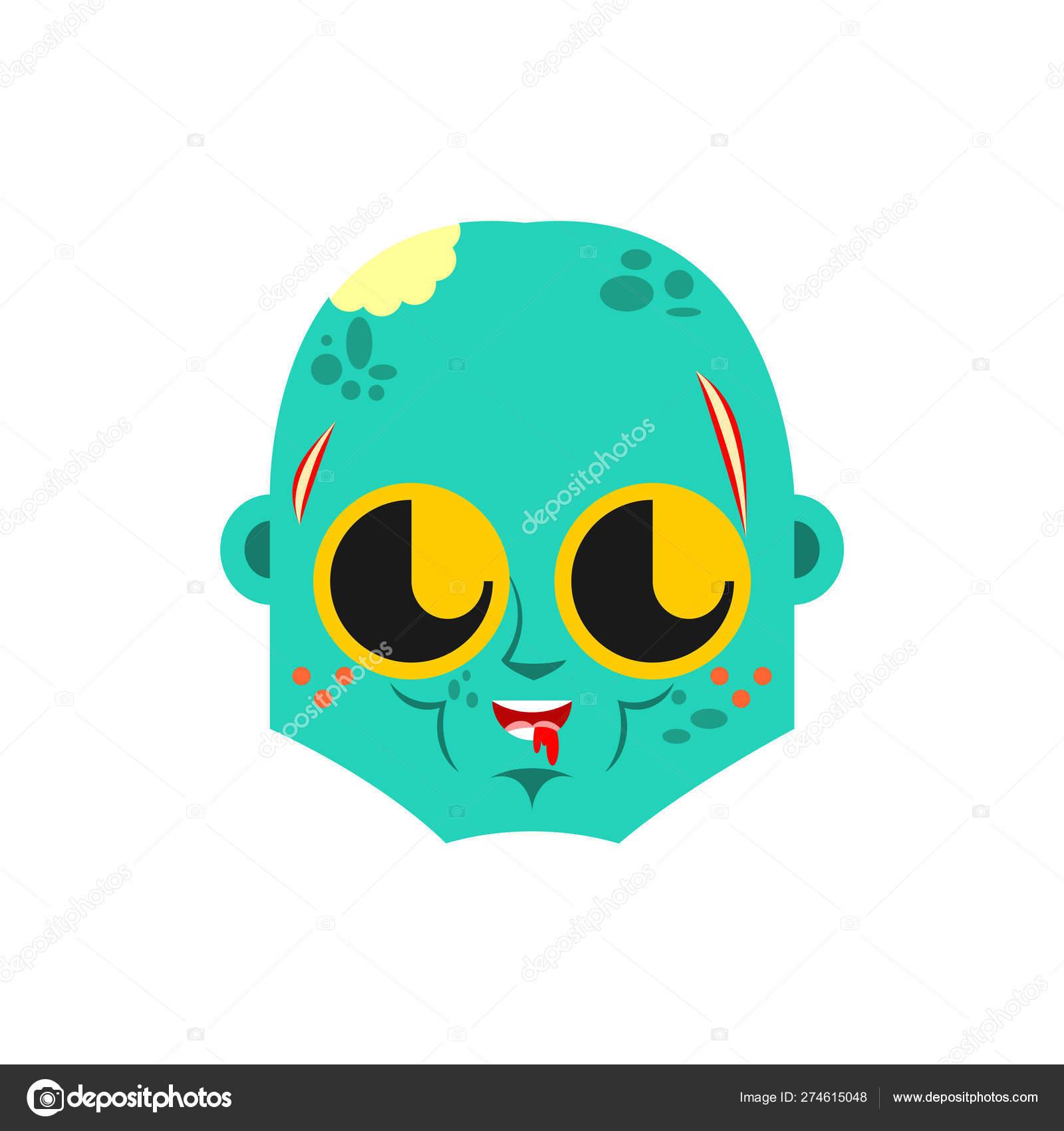симпатичные Kawaii лицо зомби смешной живой мертвец