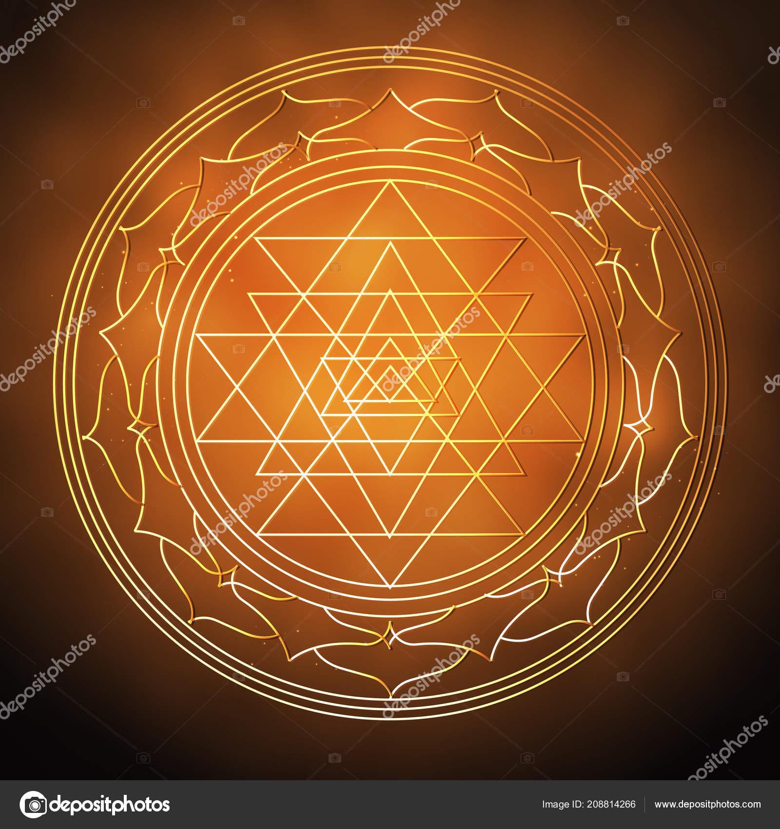 Vector Illustration Concept Religion Hinduism Symbol Hinduism