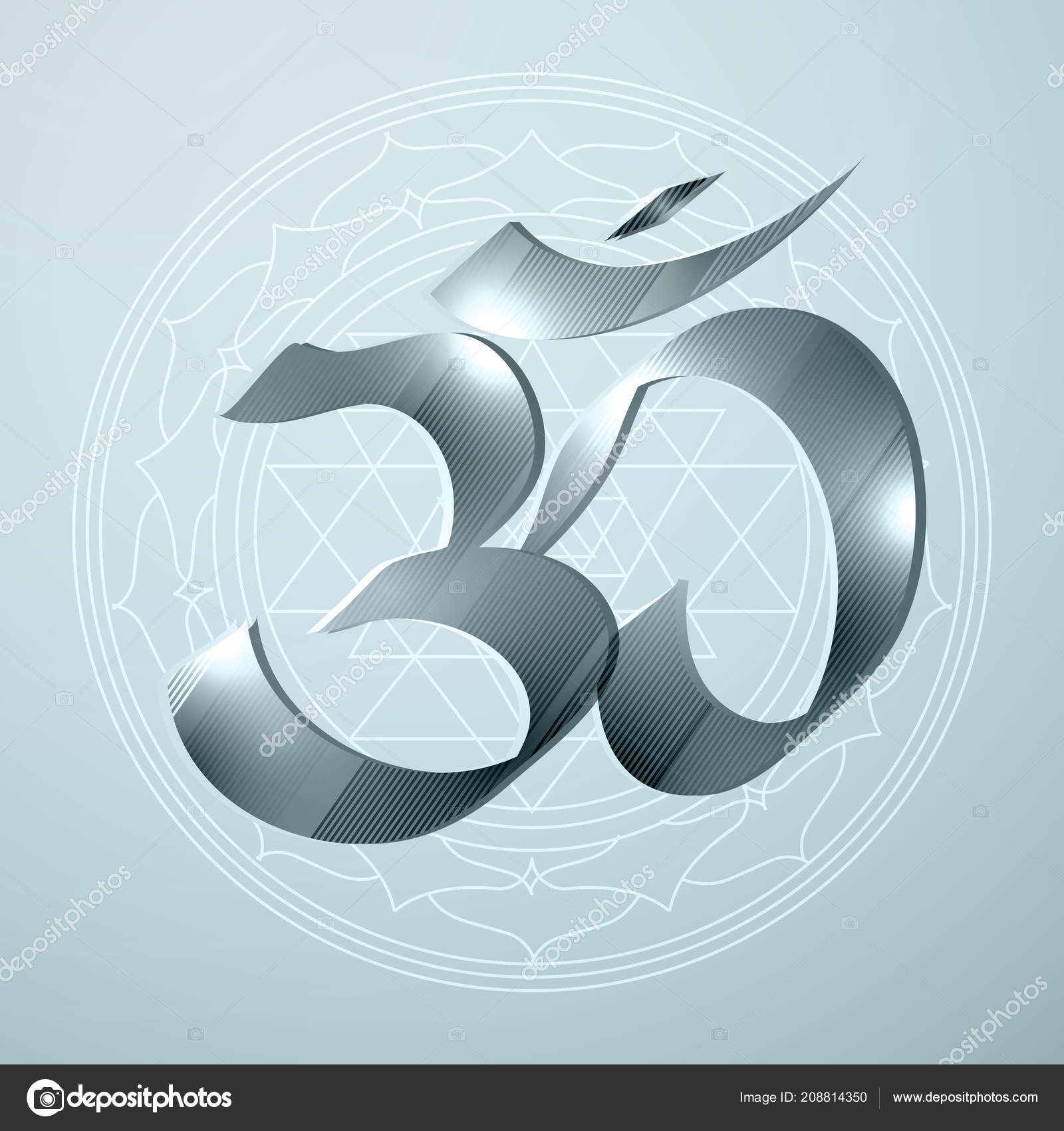 Vector Illustration Concept Religion Hinduism Symbol