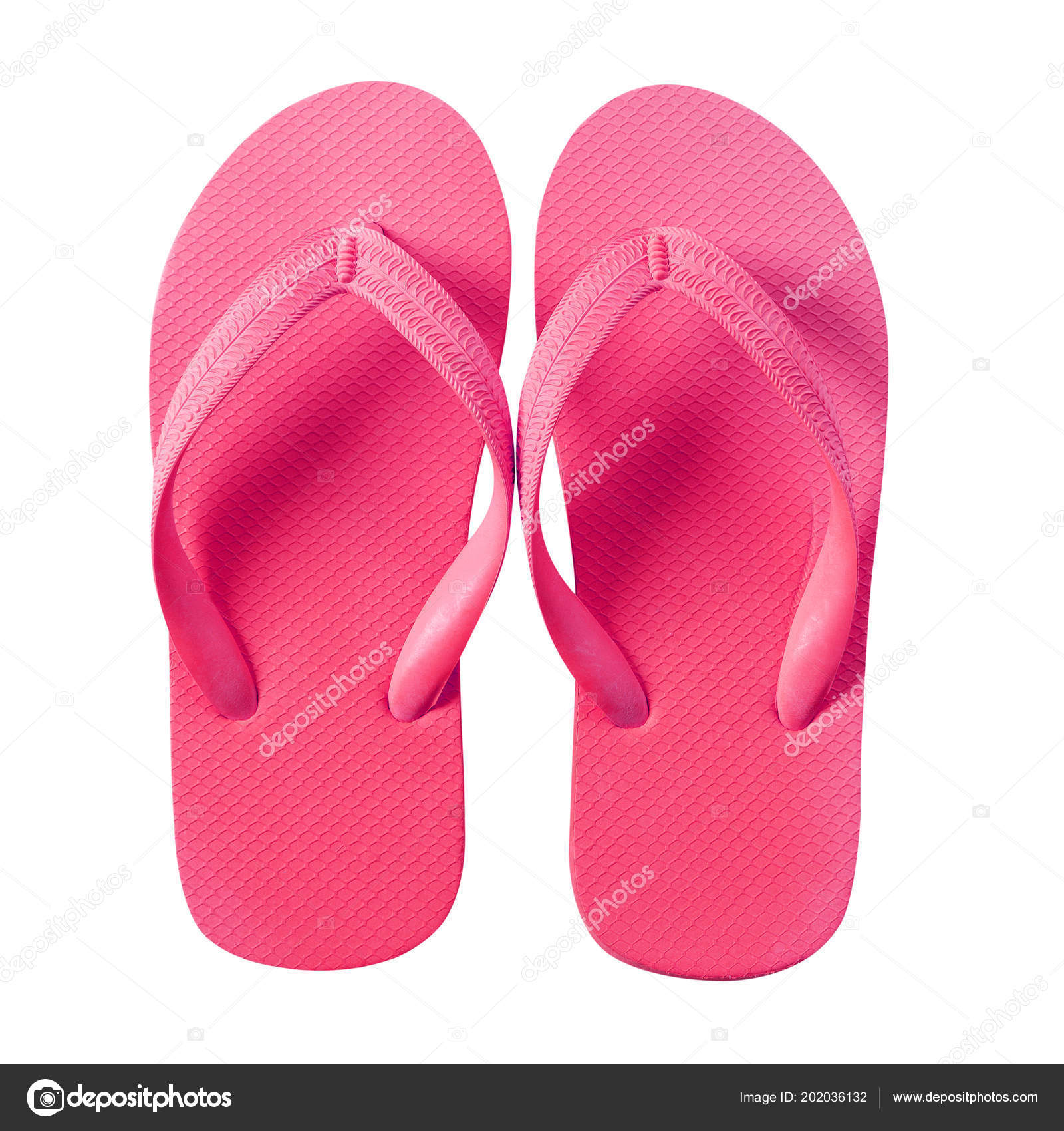 220d9f0ce60e Flip Flop Beach Sandals Pink Isolated White Background — Stock Photo ...
