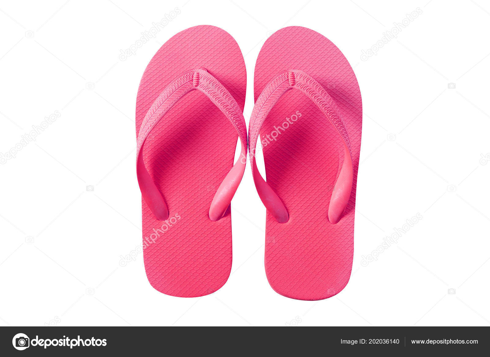 514f68a877d0 Flip Flops Pink Isolated White Background — Stock Photo ...