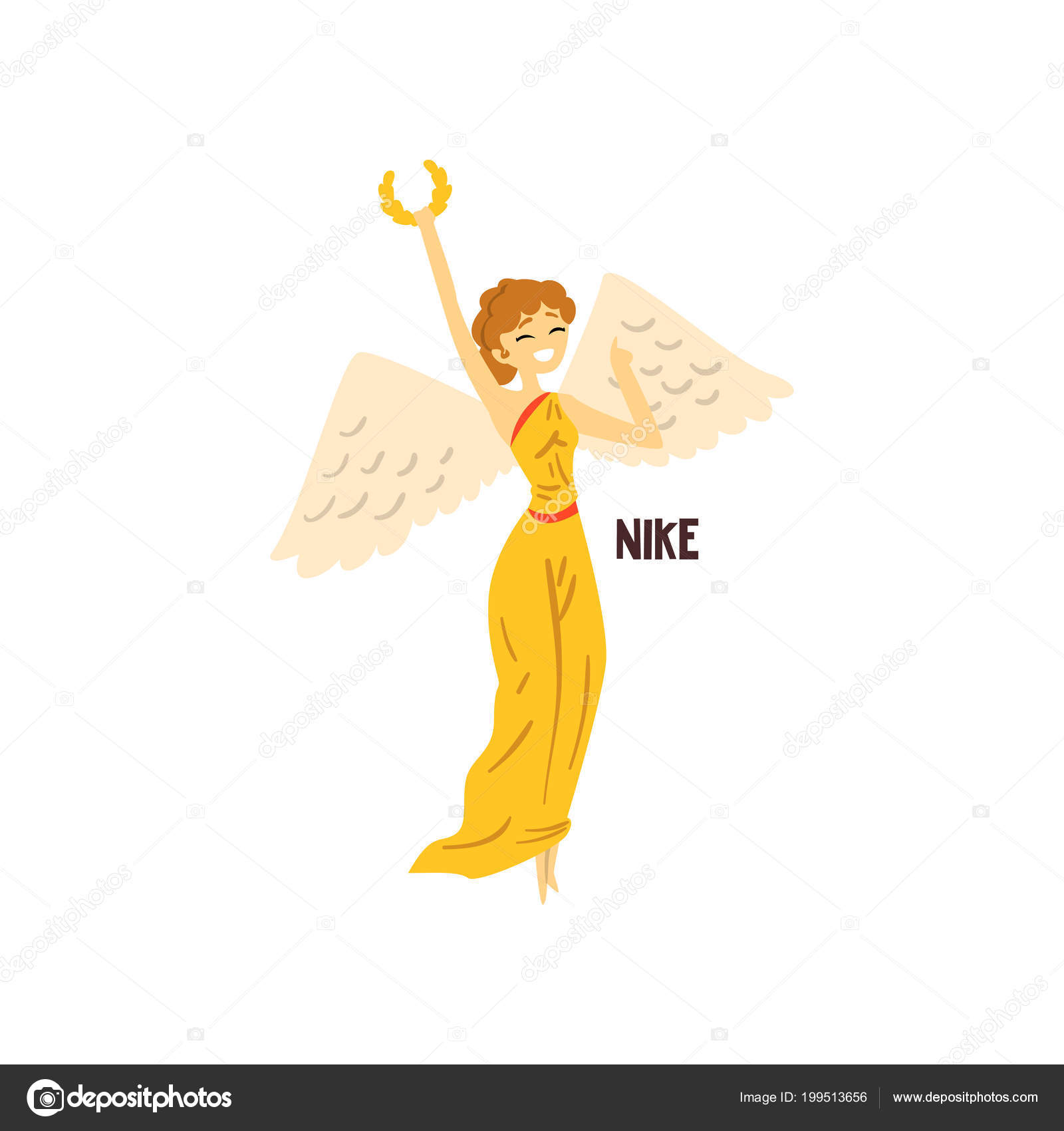 Nike Olympian Greek Goddess Ancient Greece Mythology Character