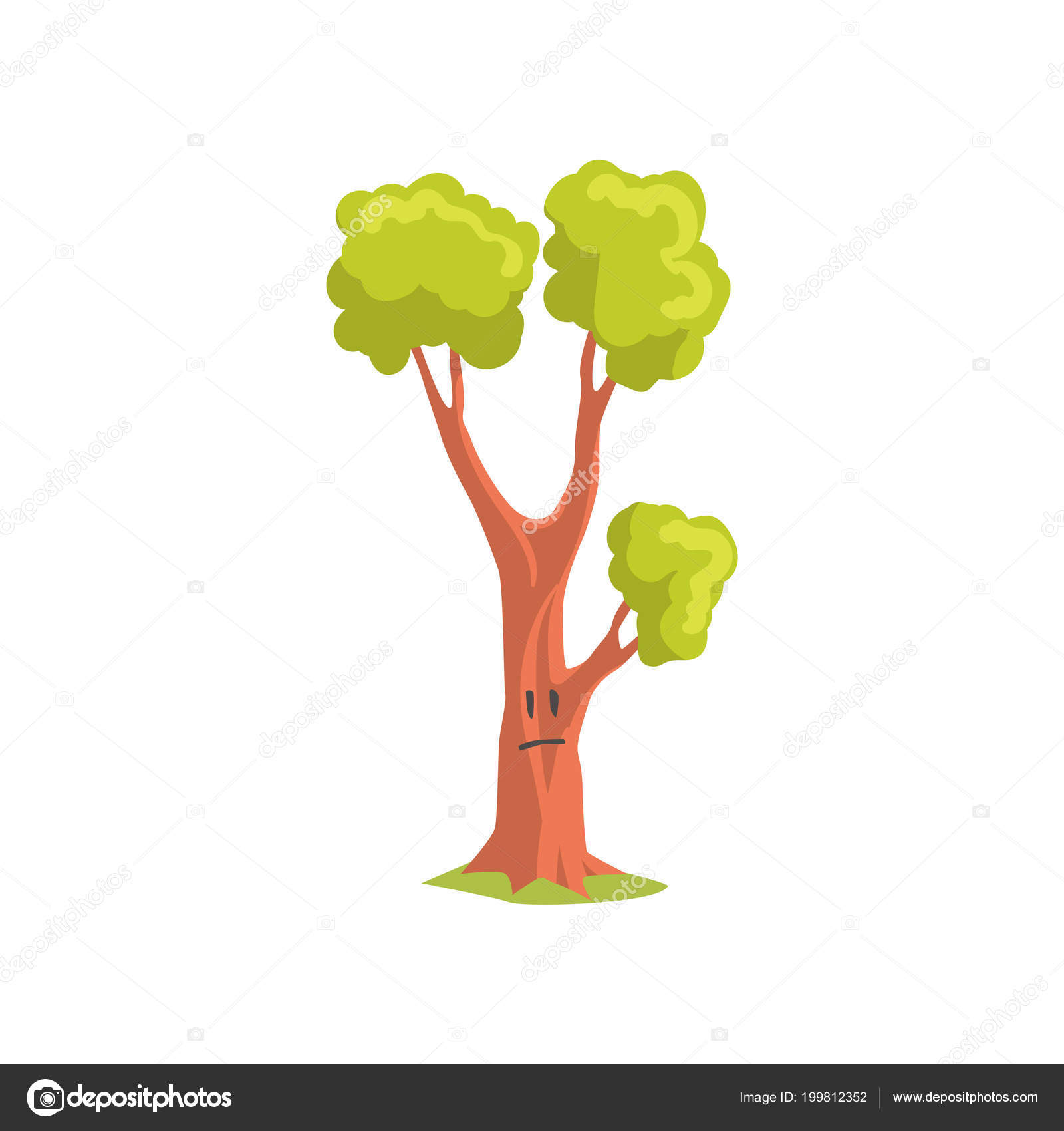 Cartoon Character Of Forest Tree With Sad Face Expression Park Plant With Bright Green Foliage Flat Vector Design Stock Vector C Topvectors 199812352 Appearance, size and color can be customized to fit your home, park, or shopping mall. https depositphotos com 199812352 stock illustration cartoon character of forest tree html
