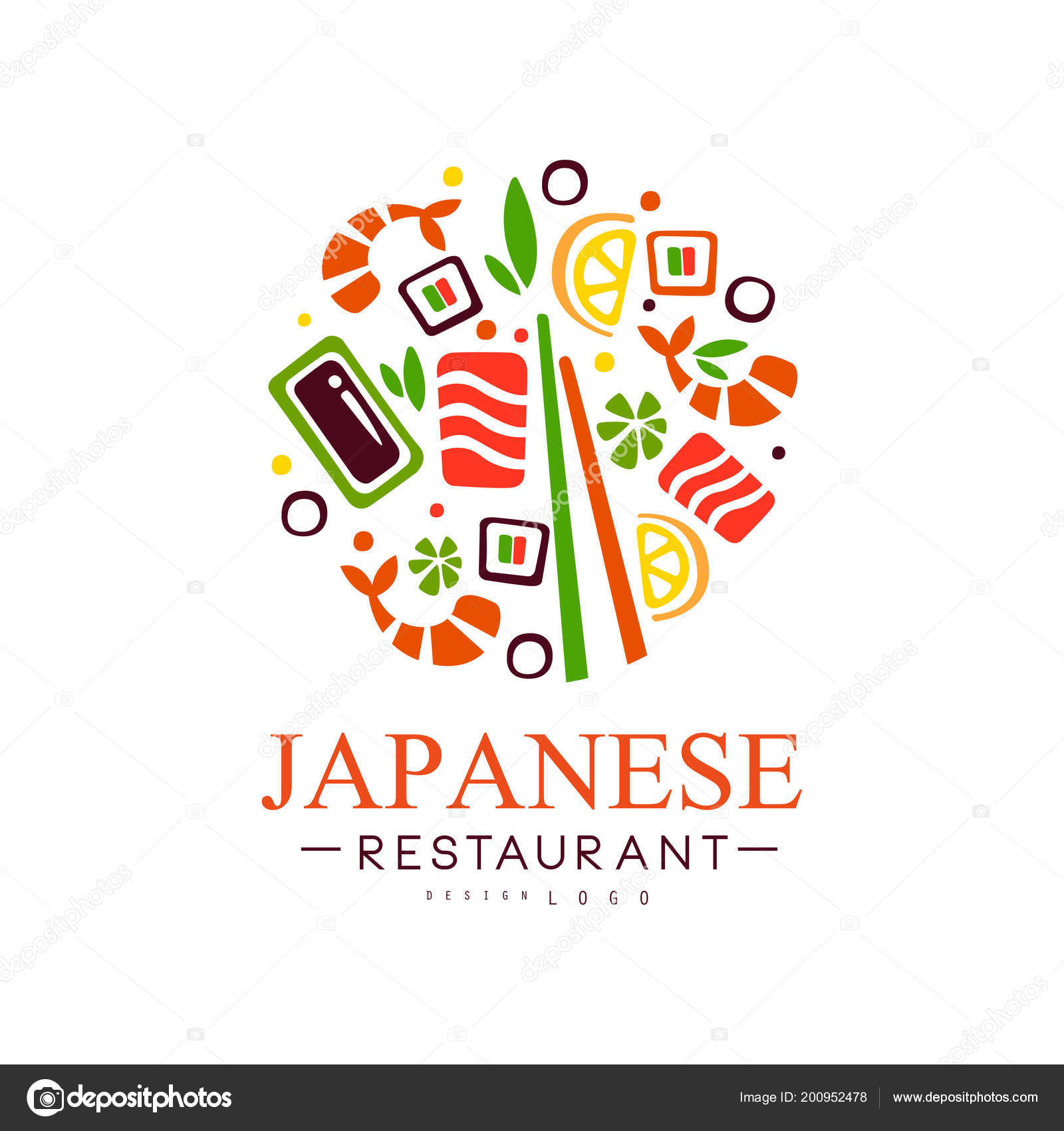 Japanese Restaurant Logo Design Authentic Traditional Continental