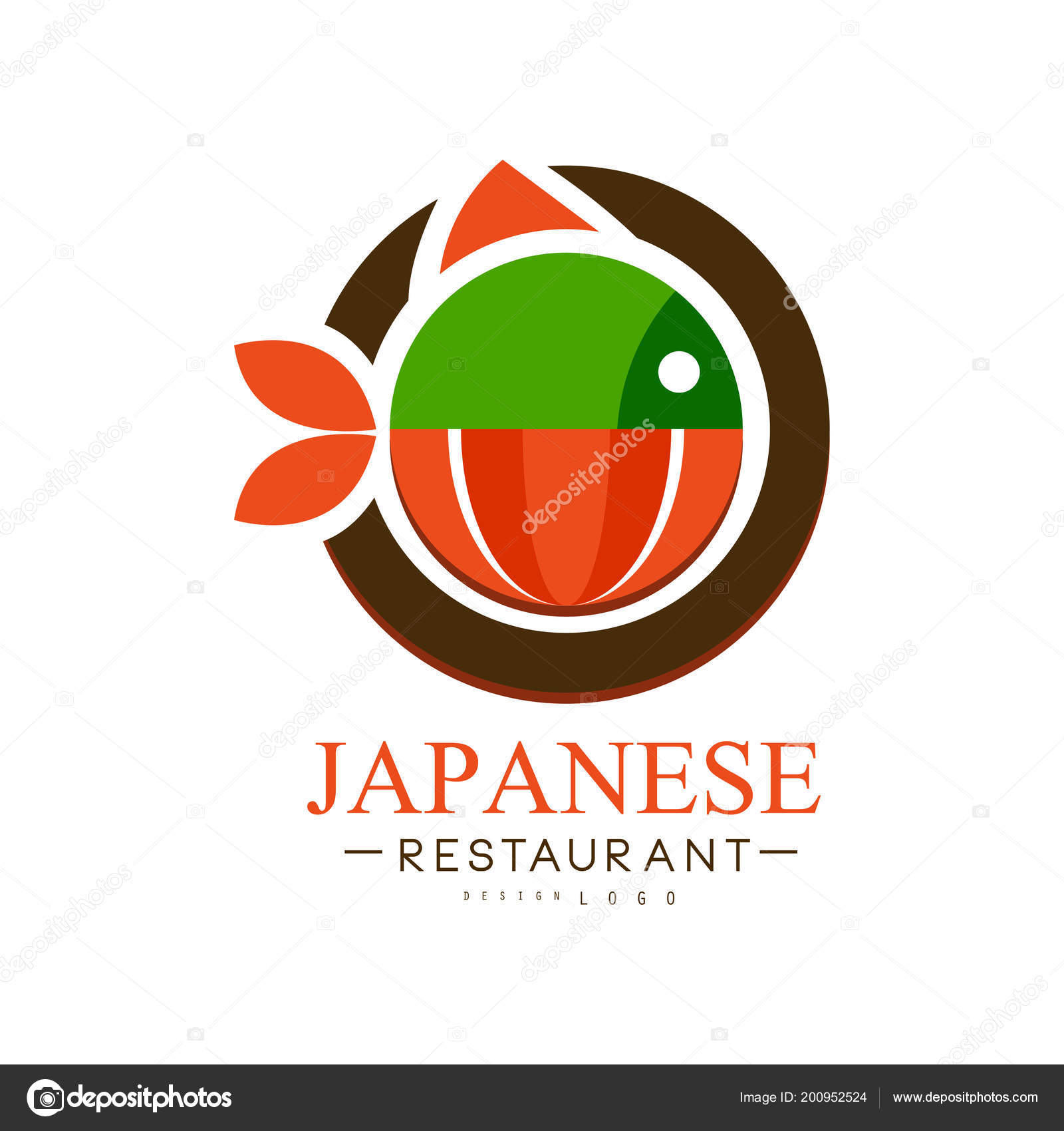 Japanese restaurant logo design, authentic traditional