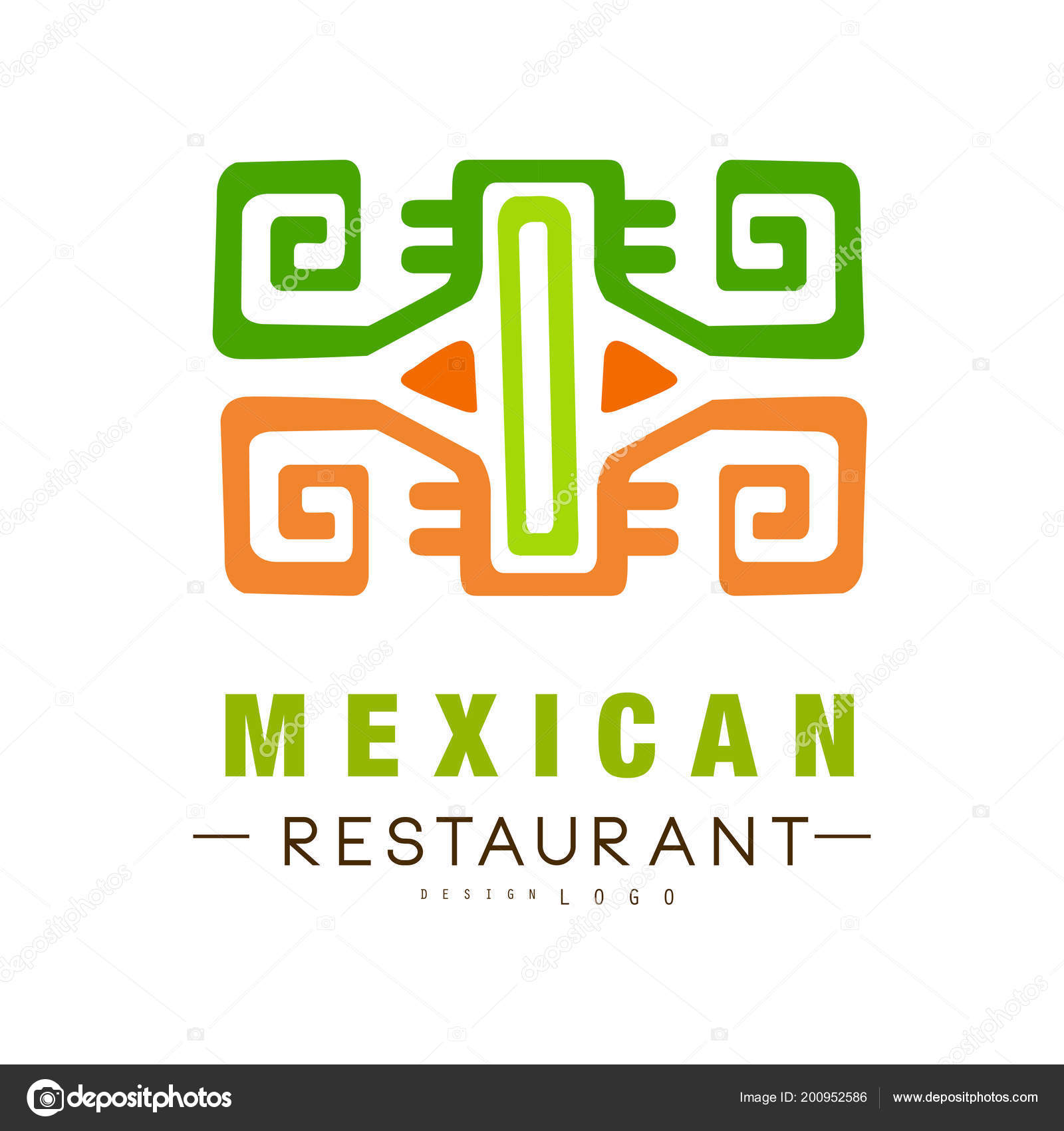 Mexican Restaurant Logo Design Authentic Traditional Continental Food Label Vector Illustration On A White Background Stock Vector C Topvectors 200952586