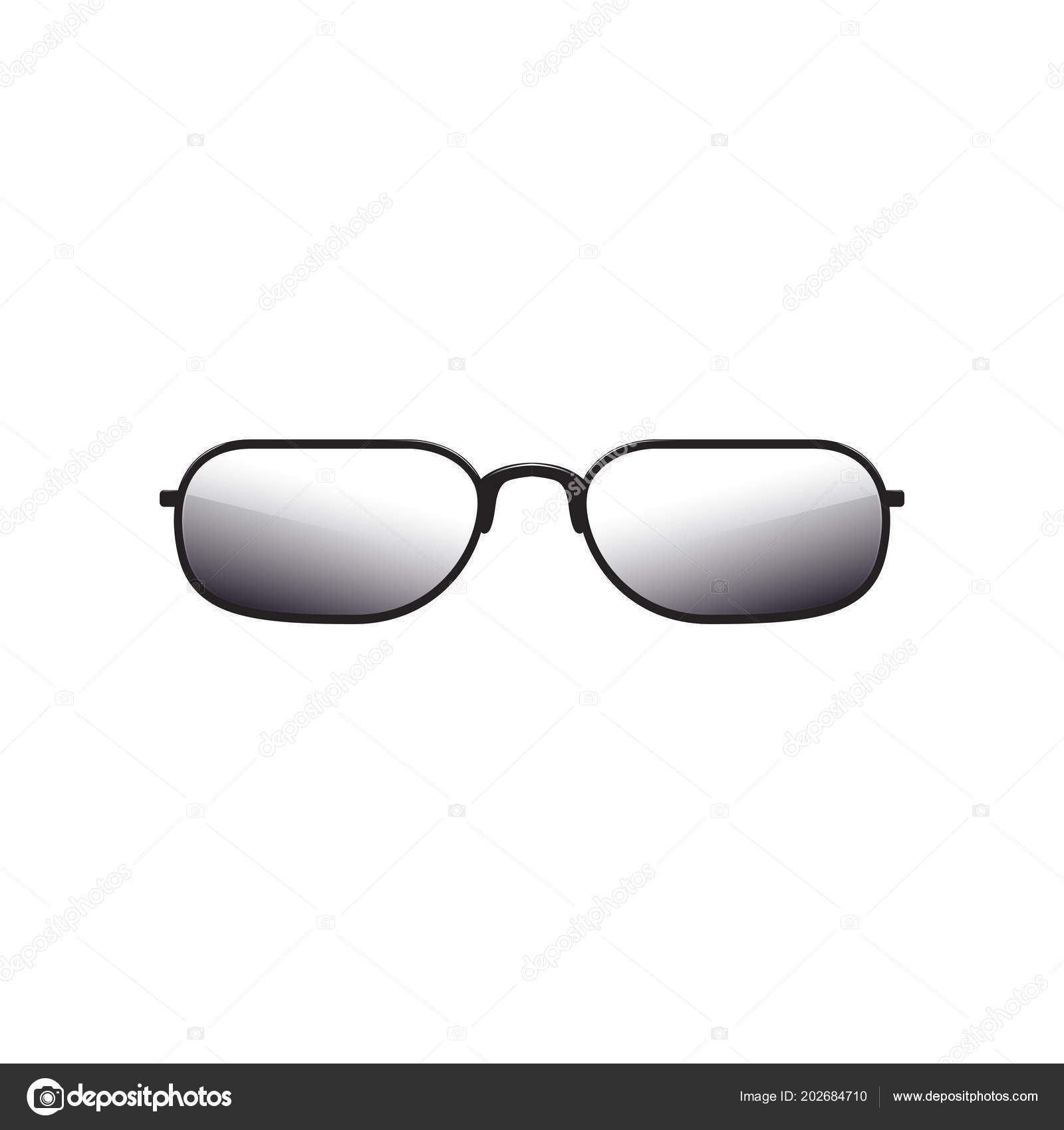 1df05351a6972 Sunglasses with tinted lenses and thick black metal frame. Cartoon icon of  protective eyewear for men or women. Colorful design for mobile app. Flat  vector ...