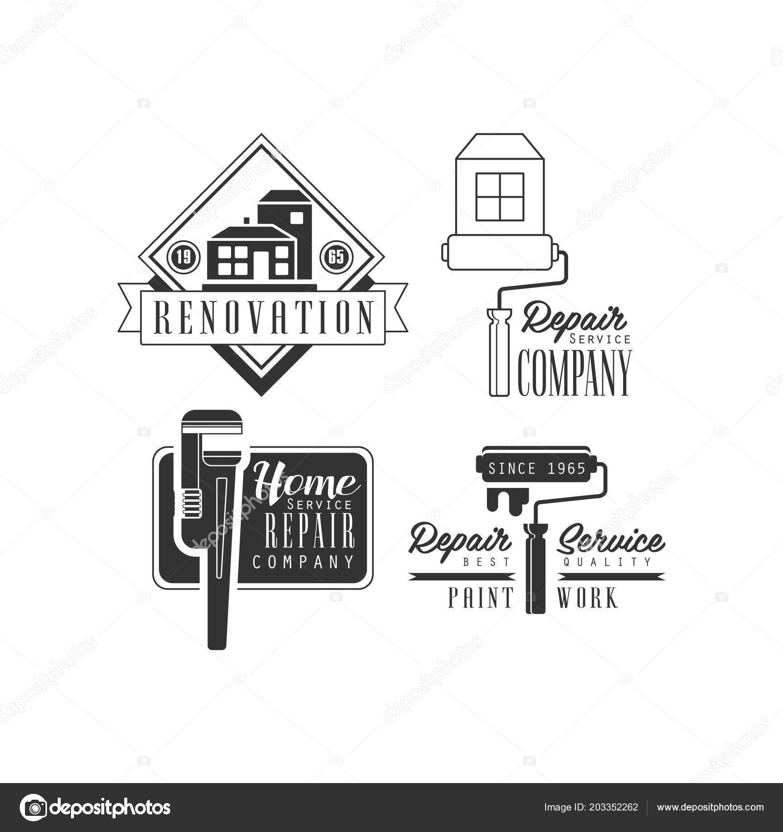 Black And White Logos For Plumbing And Repairing Services