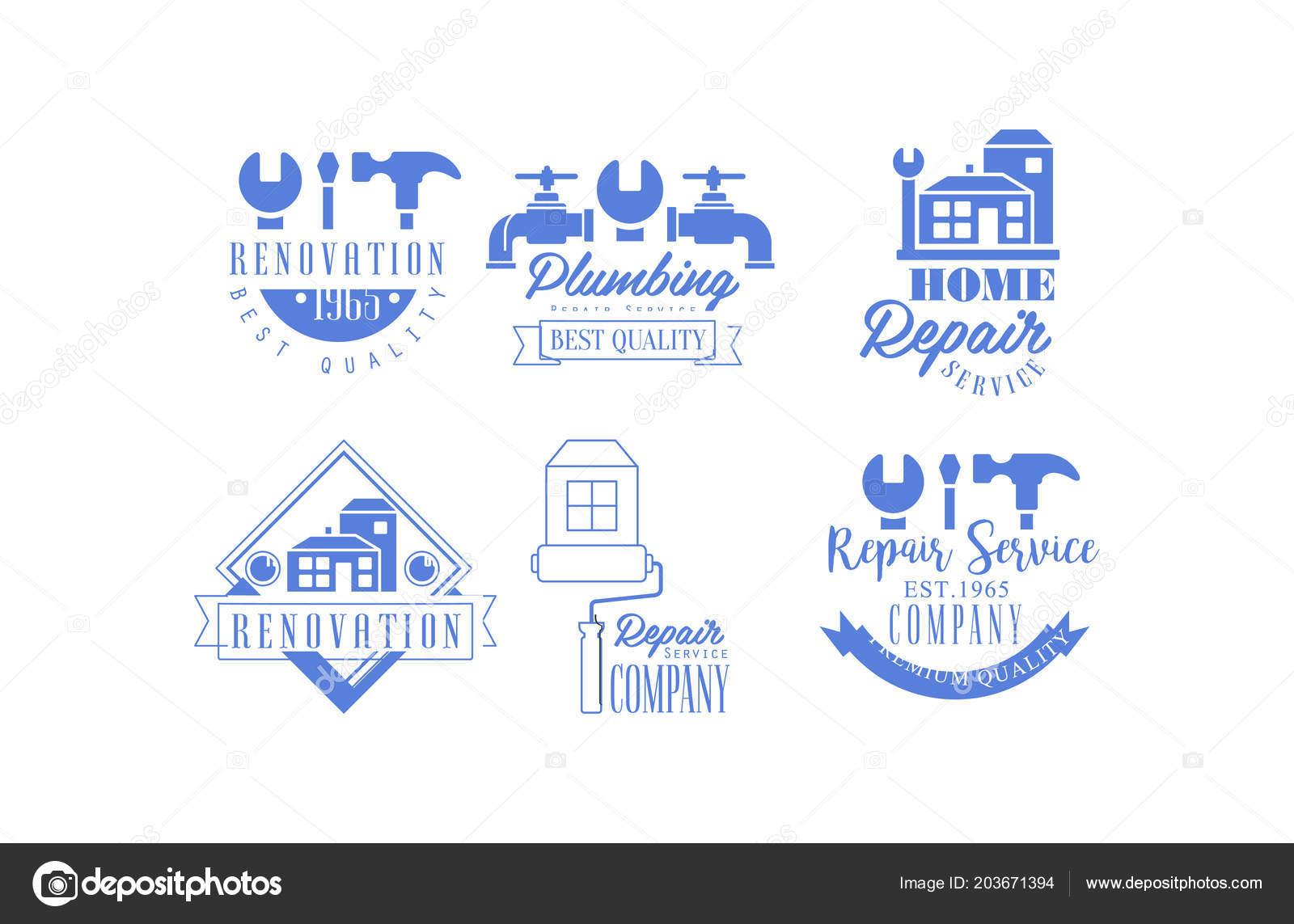 Services De Renovation Plomberie Et La Maison Conception Vecteur Pour Carte Visite Ou Une Affiche Illustration Stock