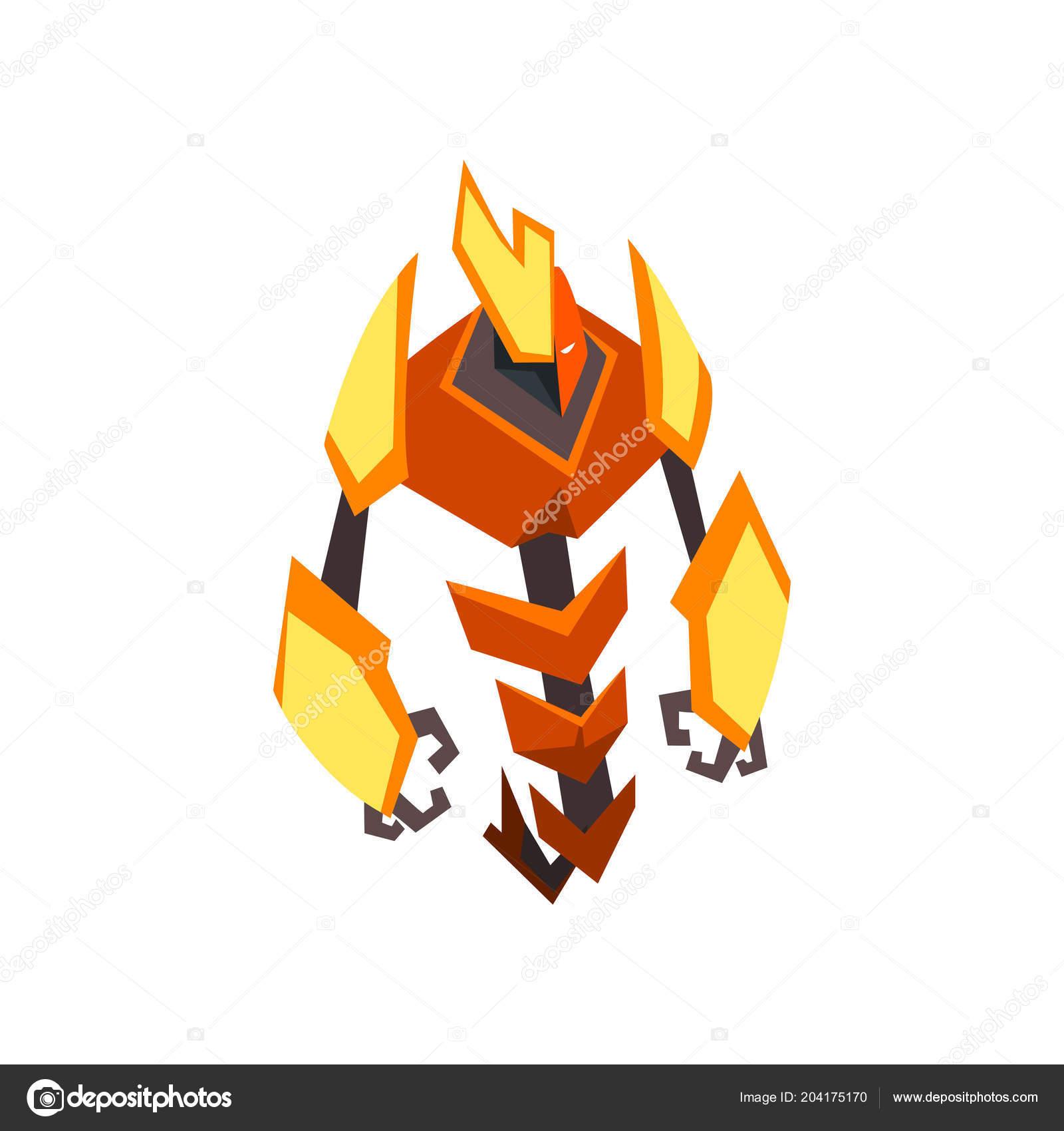 Trasformatore cartone animato dai colori vivaci robot di metallo