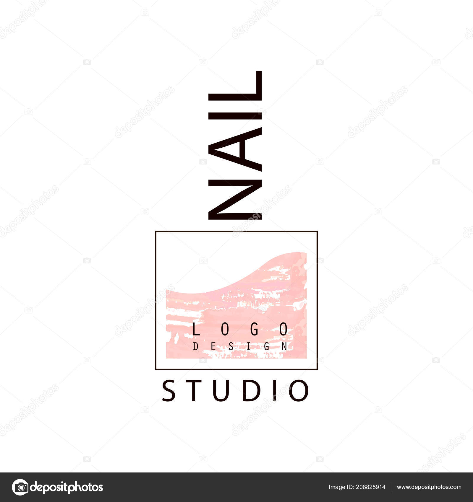 Nail Studio Logo Creative Template For Nail Bar Manicure Saloon Manicurist Technician Vector Illustration On A White Background Stock Vector C Topvectors 208825914