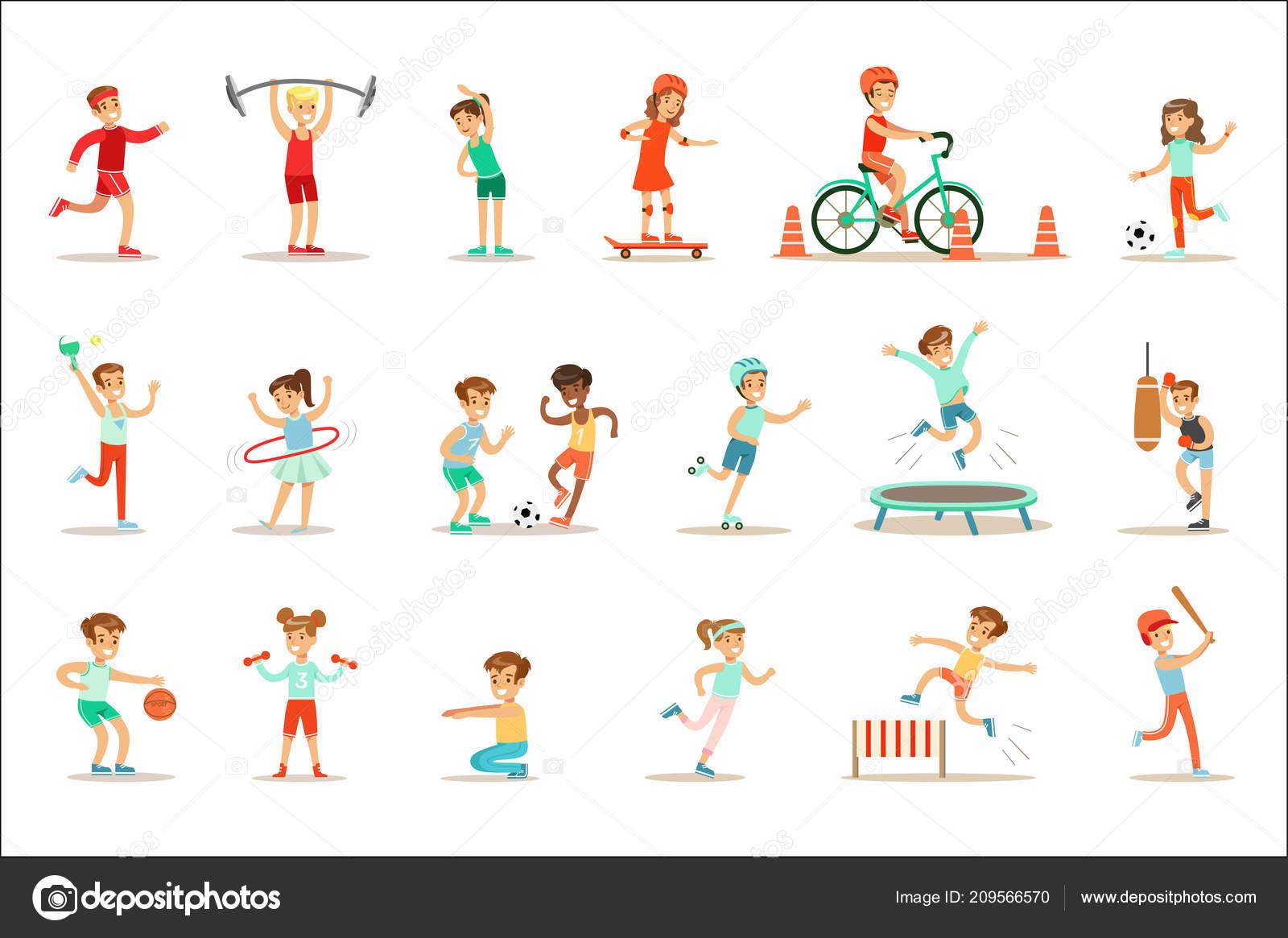 Top Kinderen die het beoefenen van verschillende sporten en fysieke #QL67