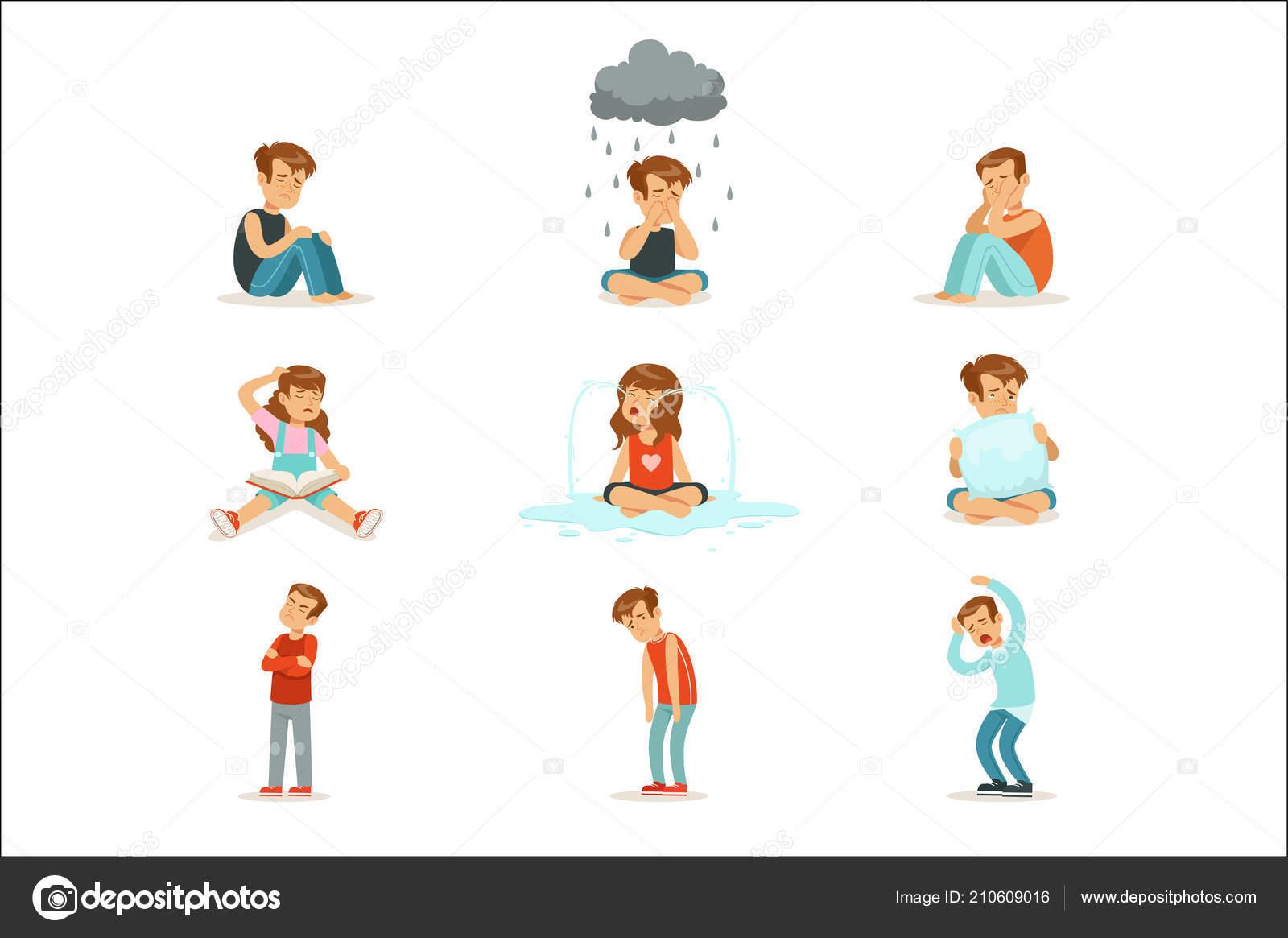 Los Niños Negativas Emociones, Expresión De Diferentes