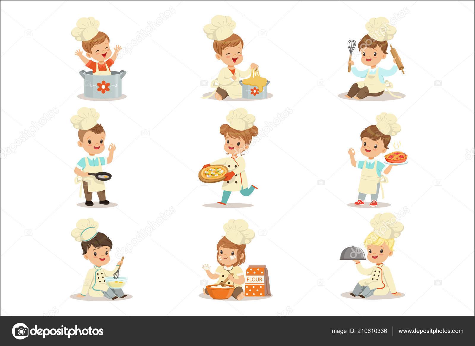 Petits Enfants En Chef Double Boutonnage Manteau Et Chapeau