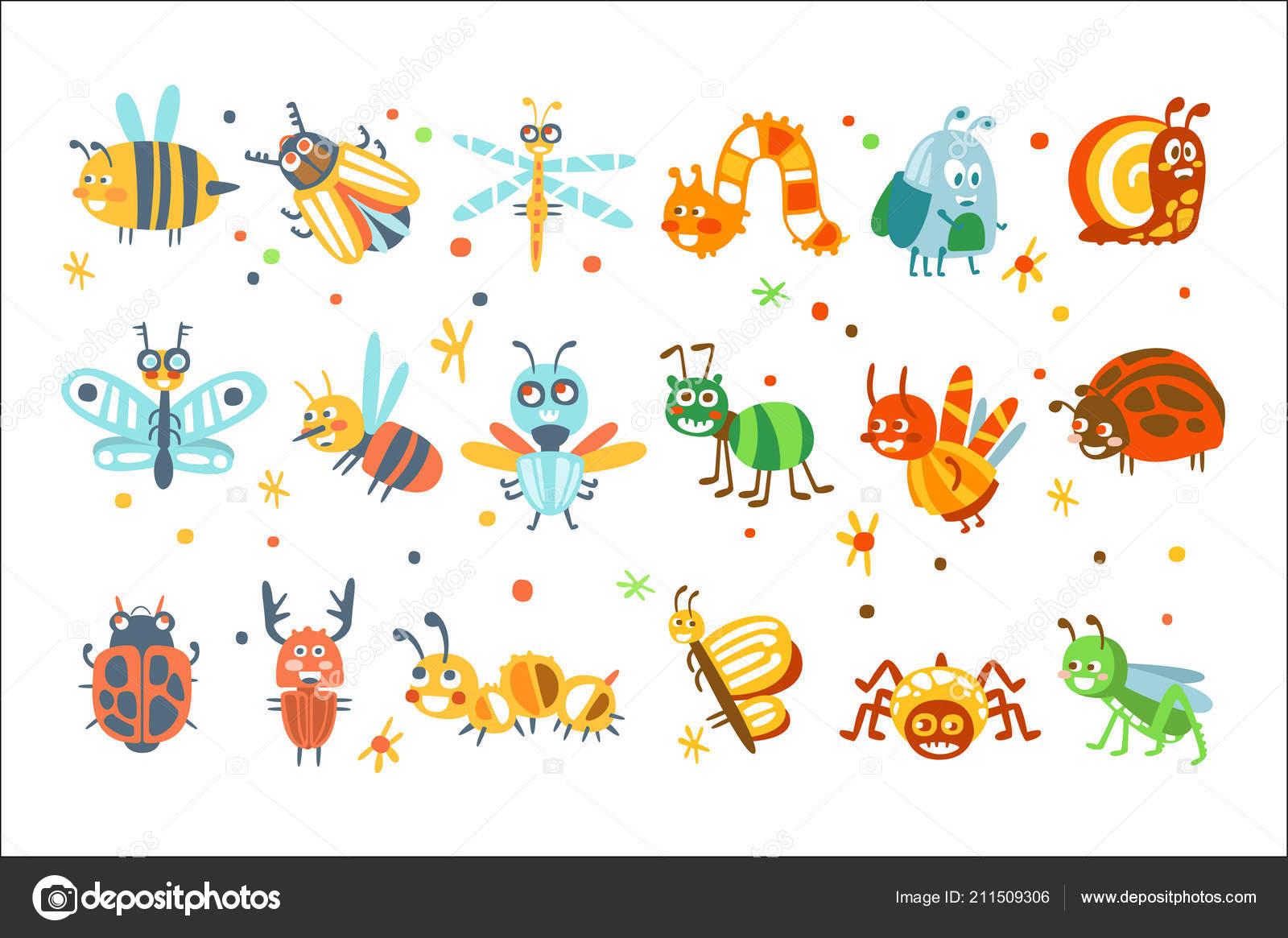 Simpatico Cartone Animato Bugs Insieme Personaggi Dei Cartoni