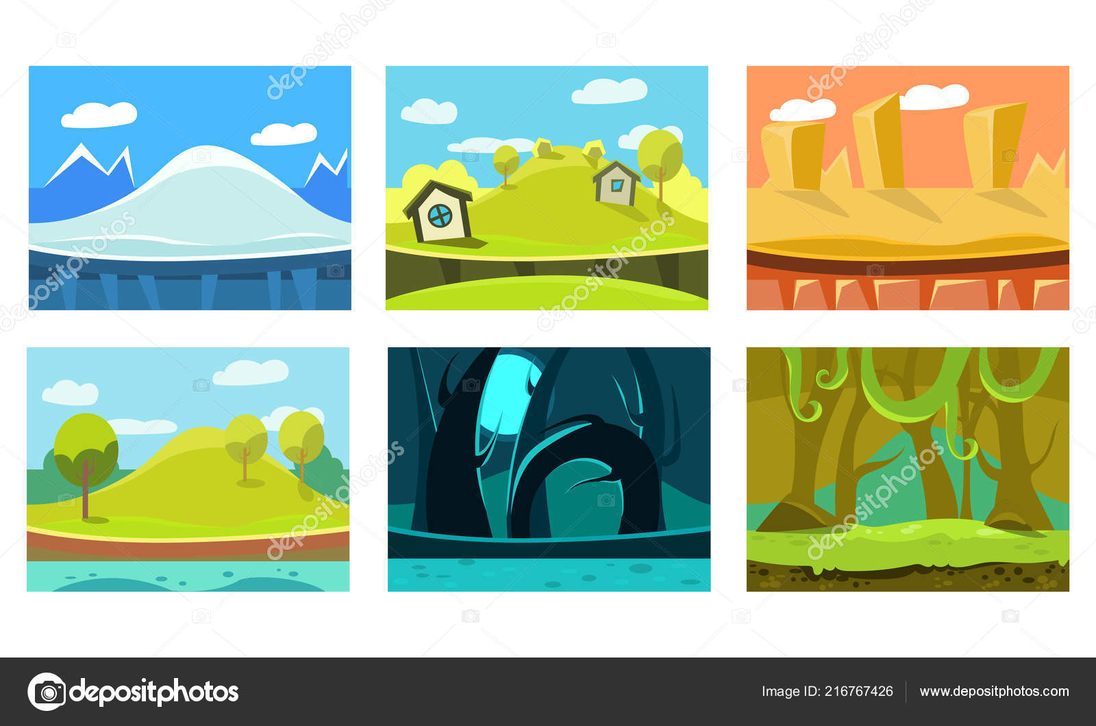 Landscape Clip Art - Royalty Free - GoGraph
